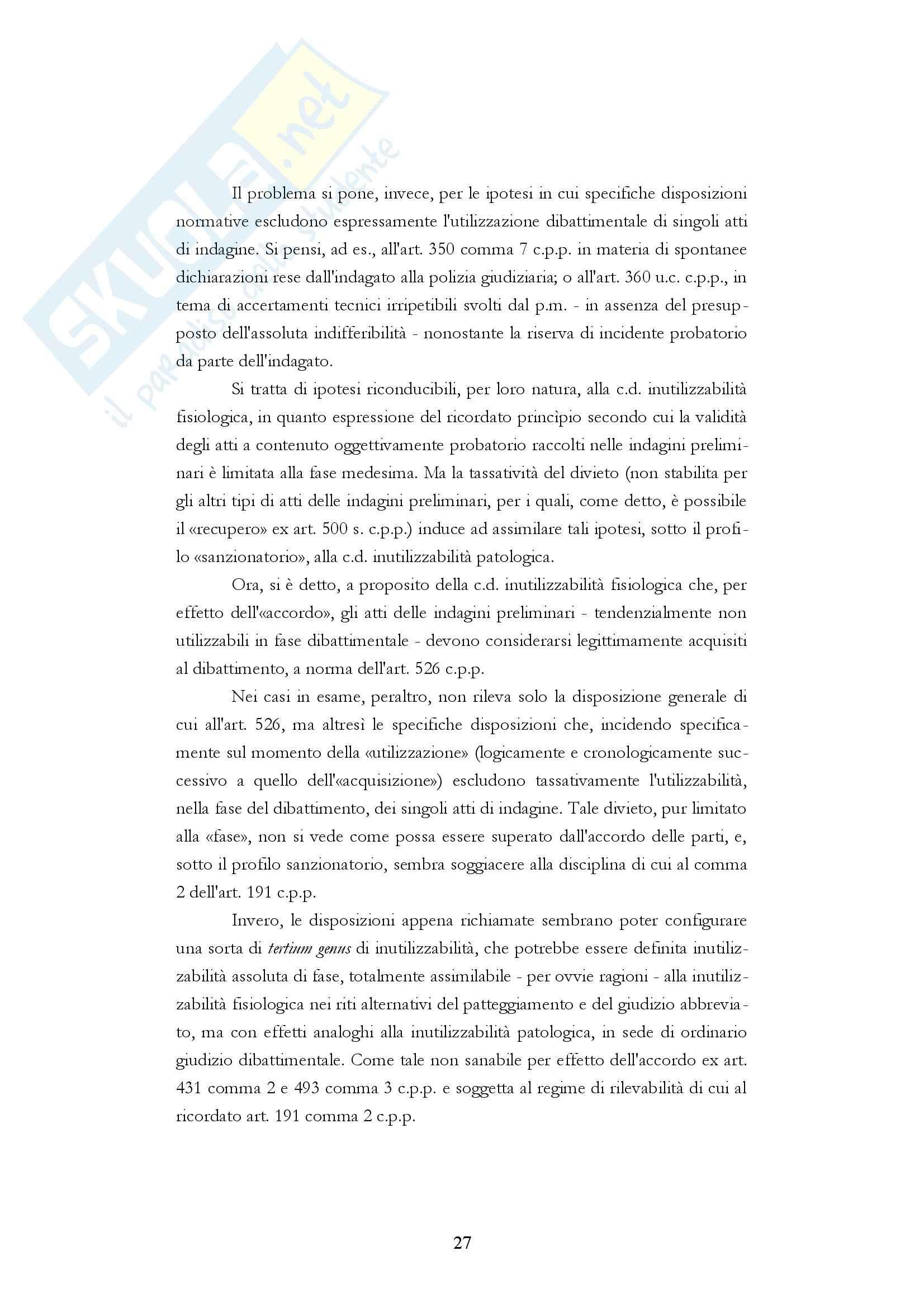 Diritto processuale penale - i fascicoli del processo penale Pag. 26