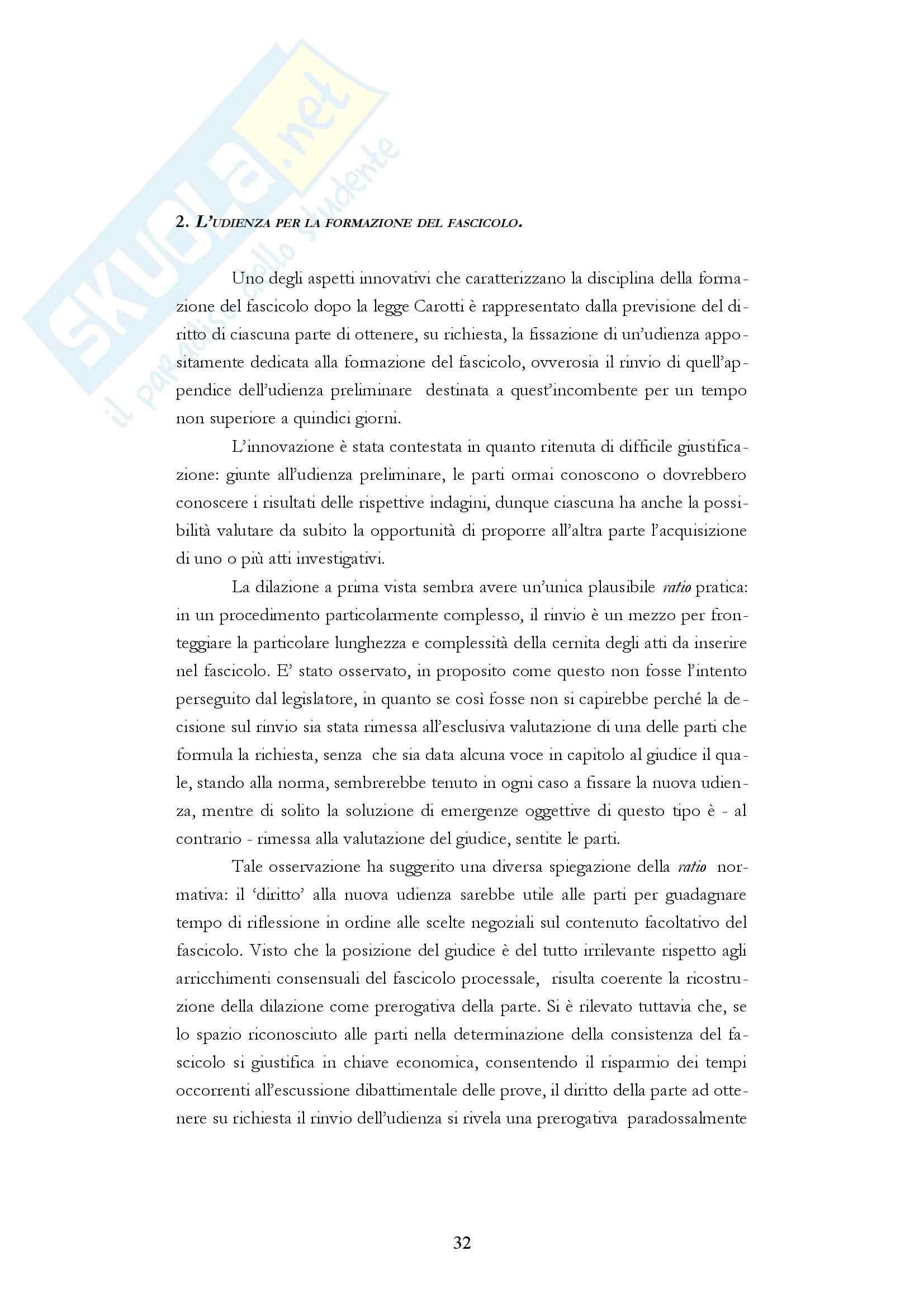 Diritto processuale penale - i fascicoli del processo penale Pag. 31