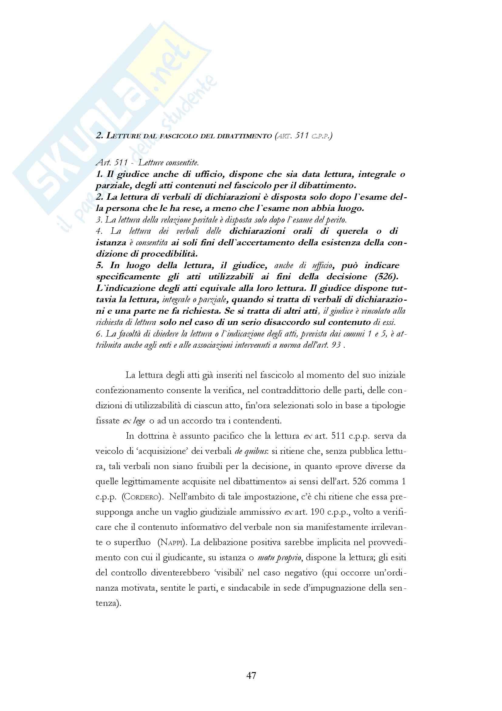 Diritto processuale penale - i fascicoli del processo penale Pag. 46
