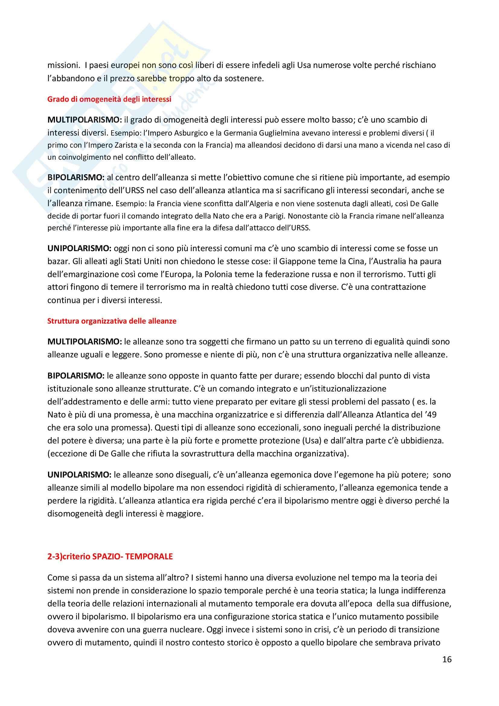 Storia delle relazioni internazionali - Appunti Pag. 16
