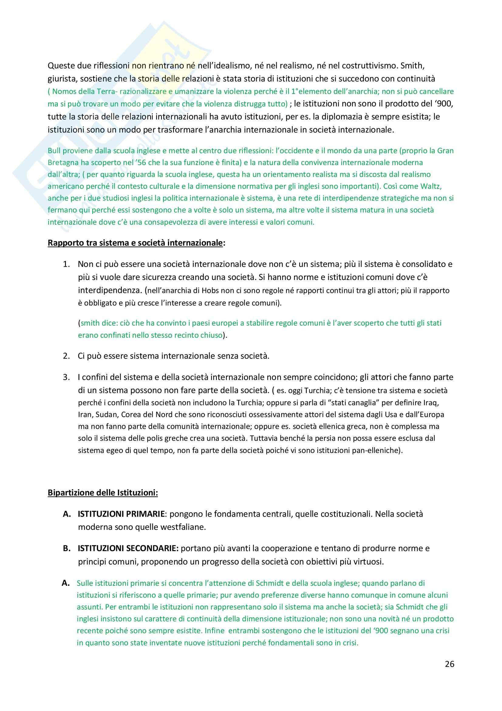 Storia delle relazioni internazionali - Appunti Pag. 26