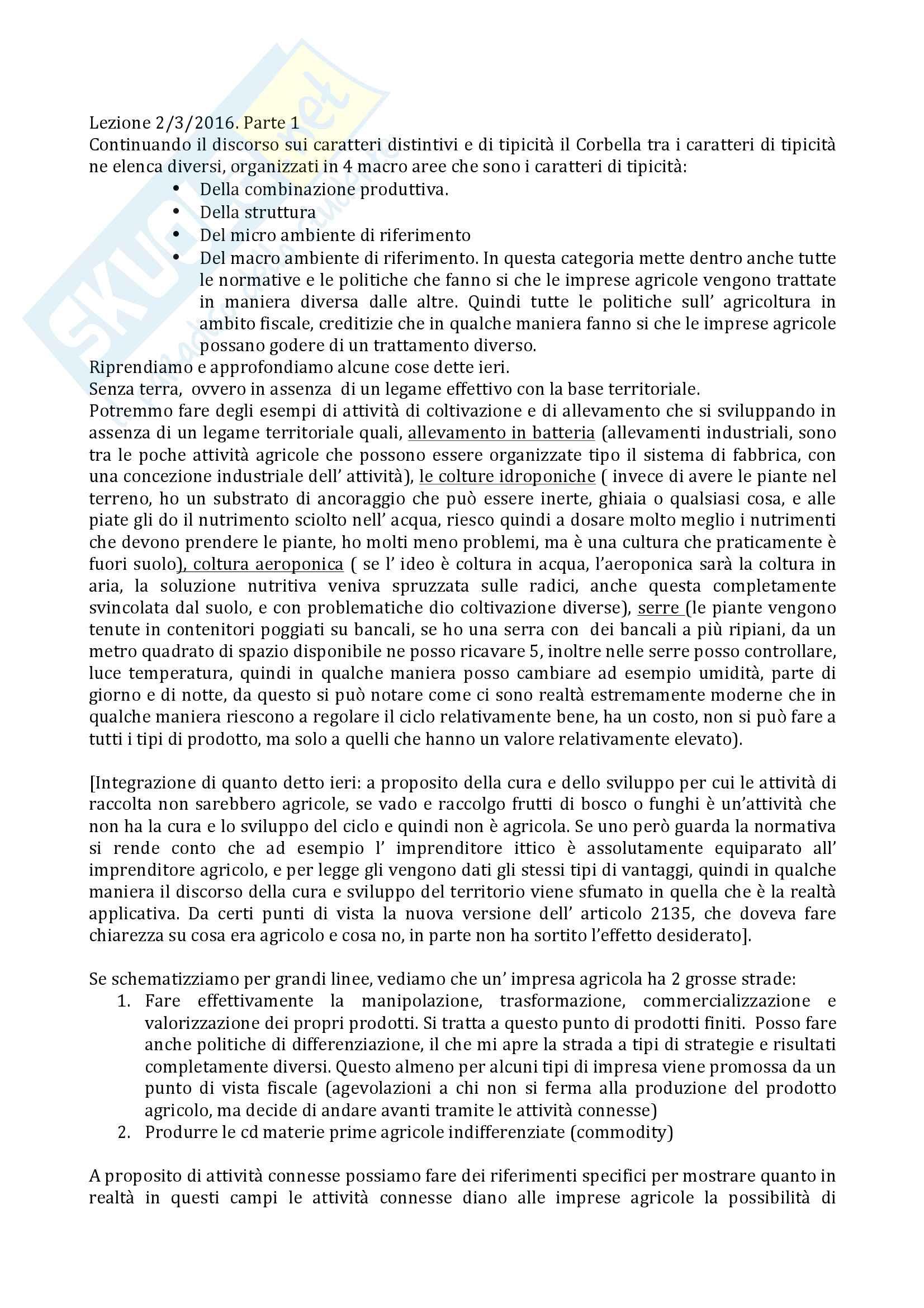 Pianificazione e gestione delle aziende agrarie Pag. 6