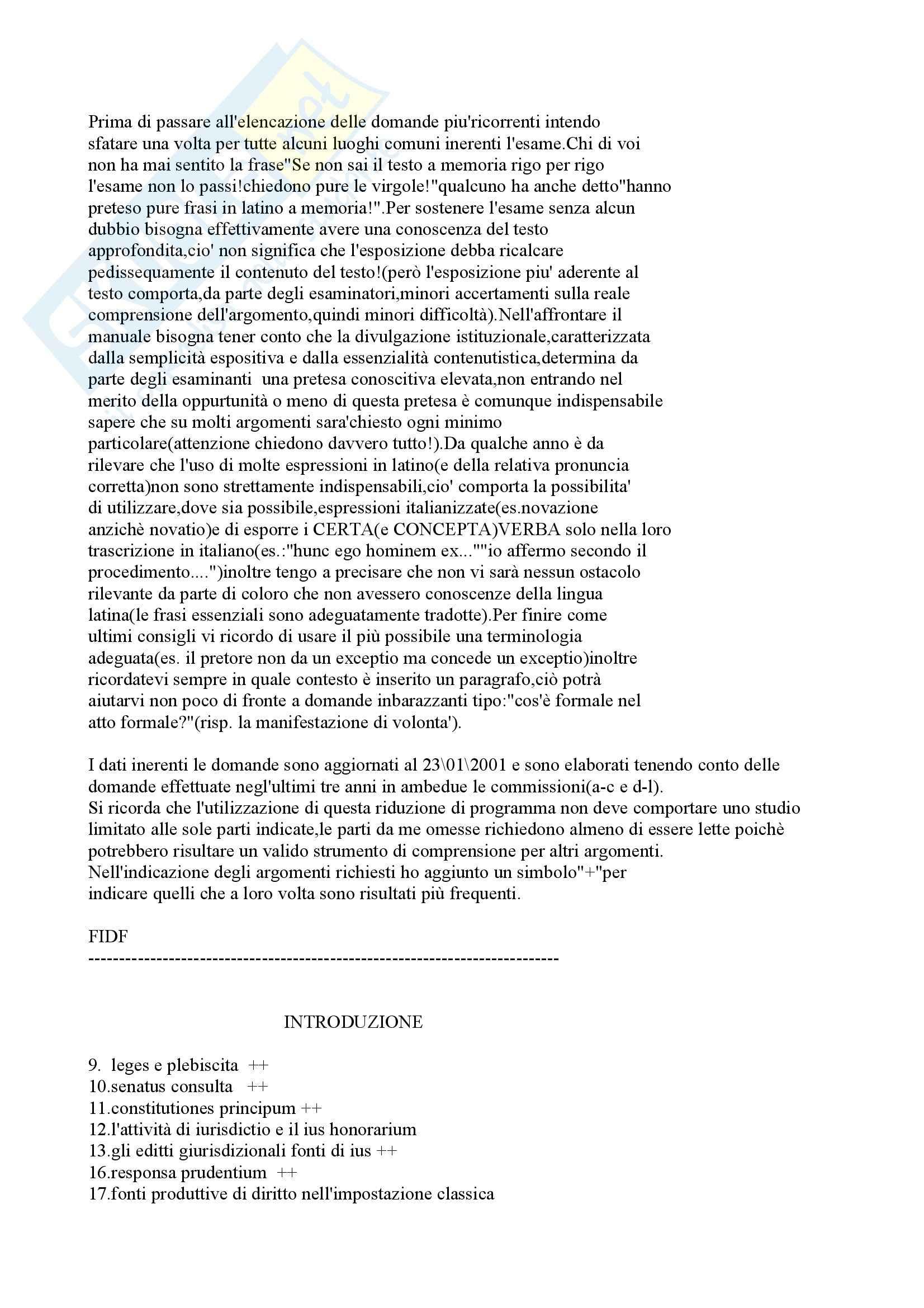 Istituzioni di diritto romano - Appunti