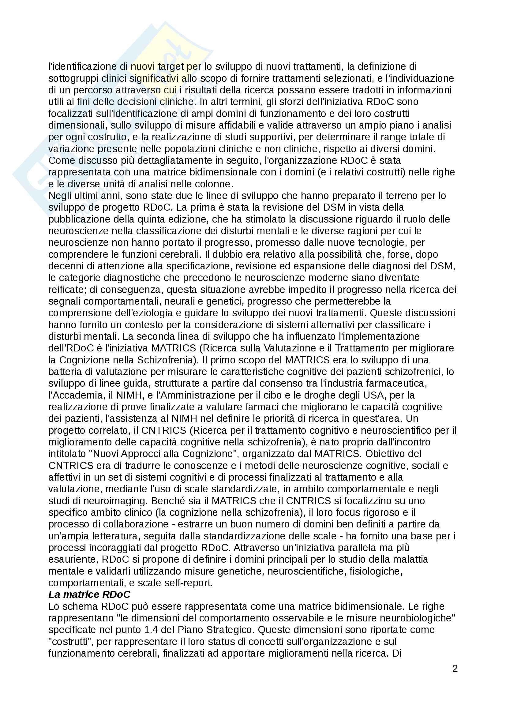 Riassunto esame Psicologia Clinica, Prof. Fossati, libro consigliato Le Psicoterapie, Gabbard Pag. 2