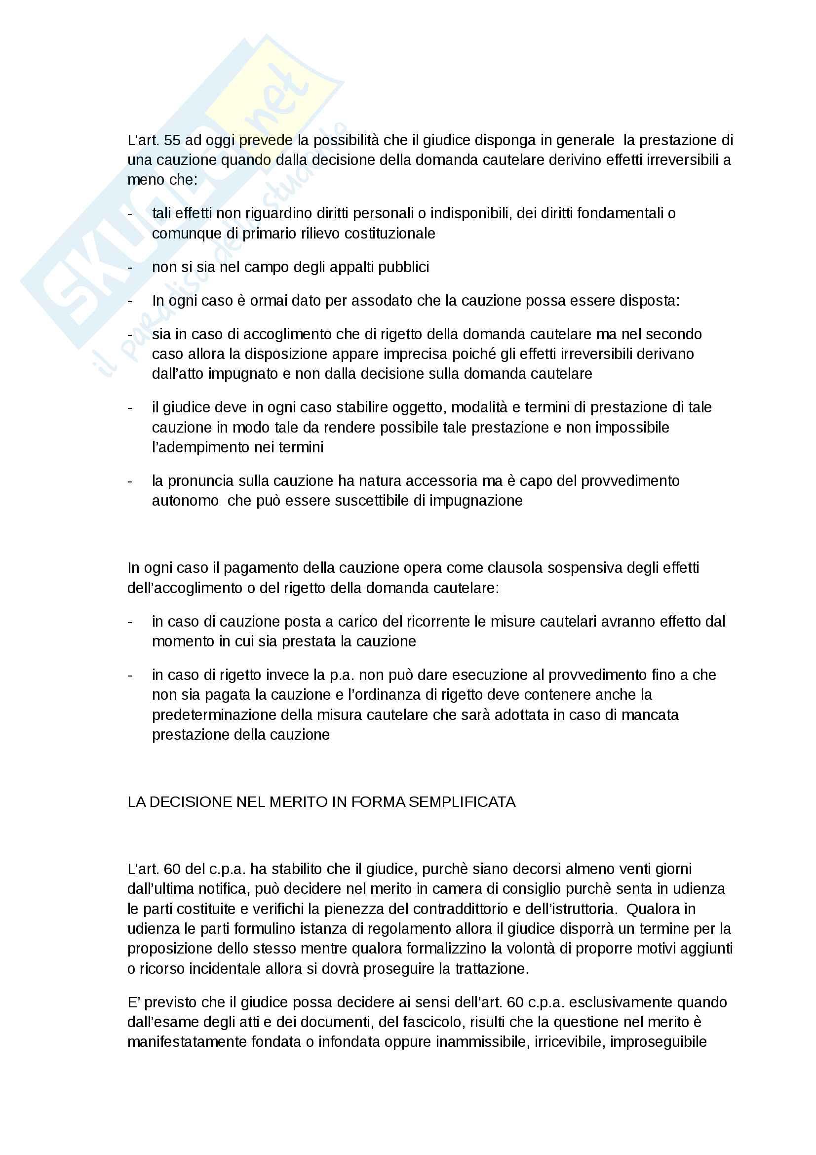 Riassunti Giustizia amministrativa, Prof. Volpe, libro consigliato Giustizia amministrativa, Scoca Pag. 31