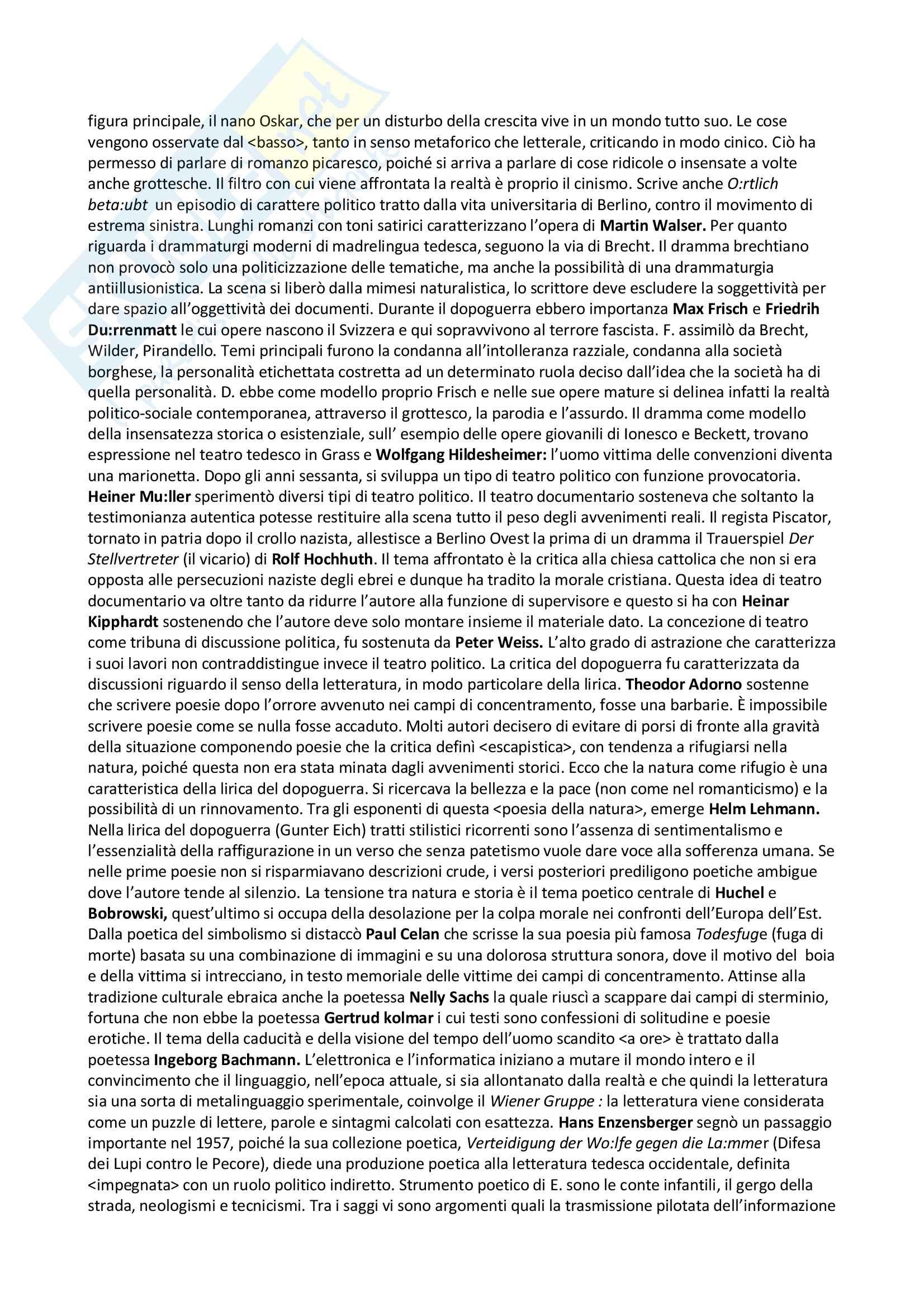 Riassunto esame letteratura tedesca III, docente Gheri , libro consigliato Breve storia della letteratura tedesca dalle origini ai giorni nostri, Zmegac Pag. 16