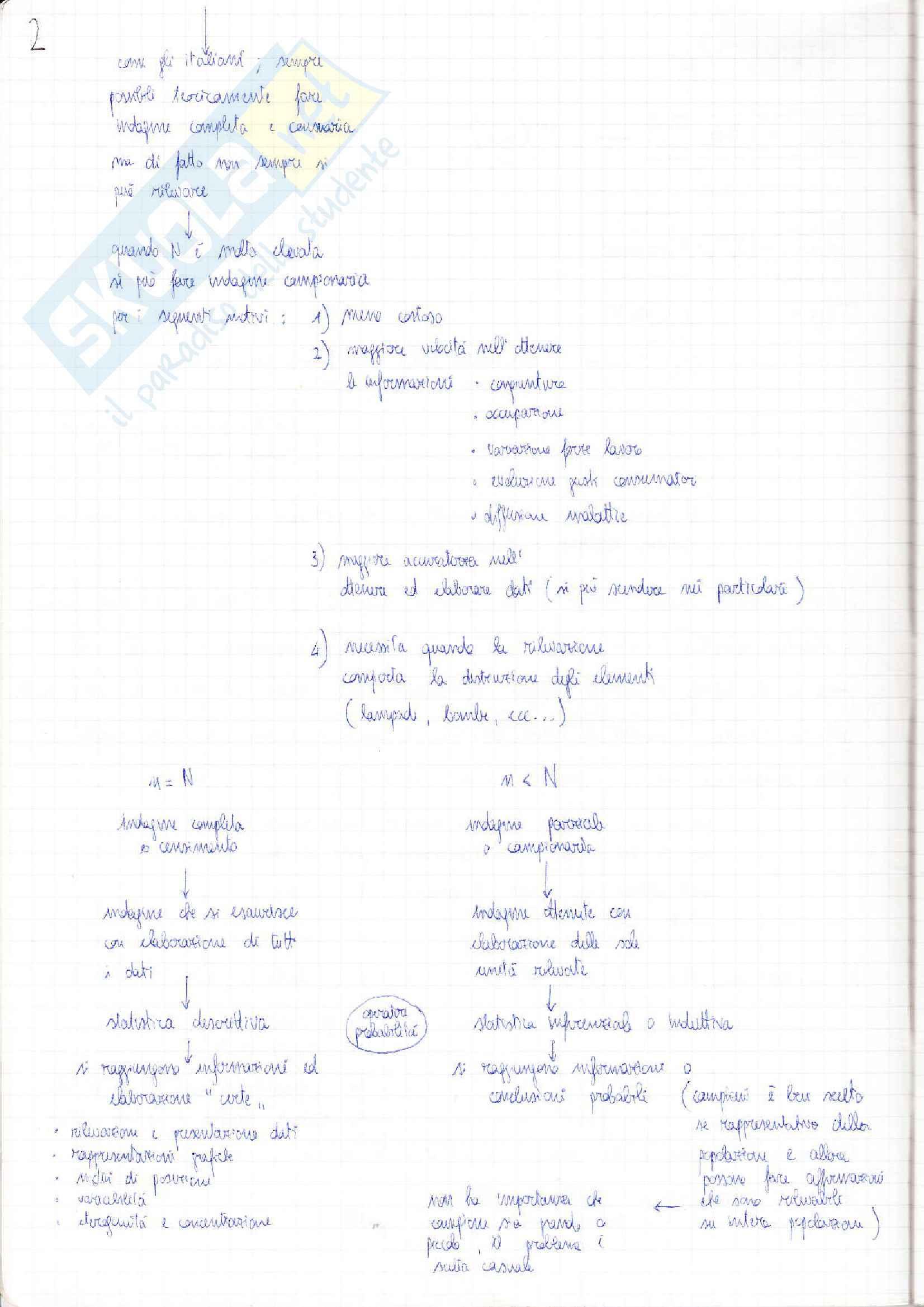 Lezioni, Statistica Pag. 2