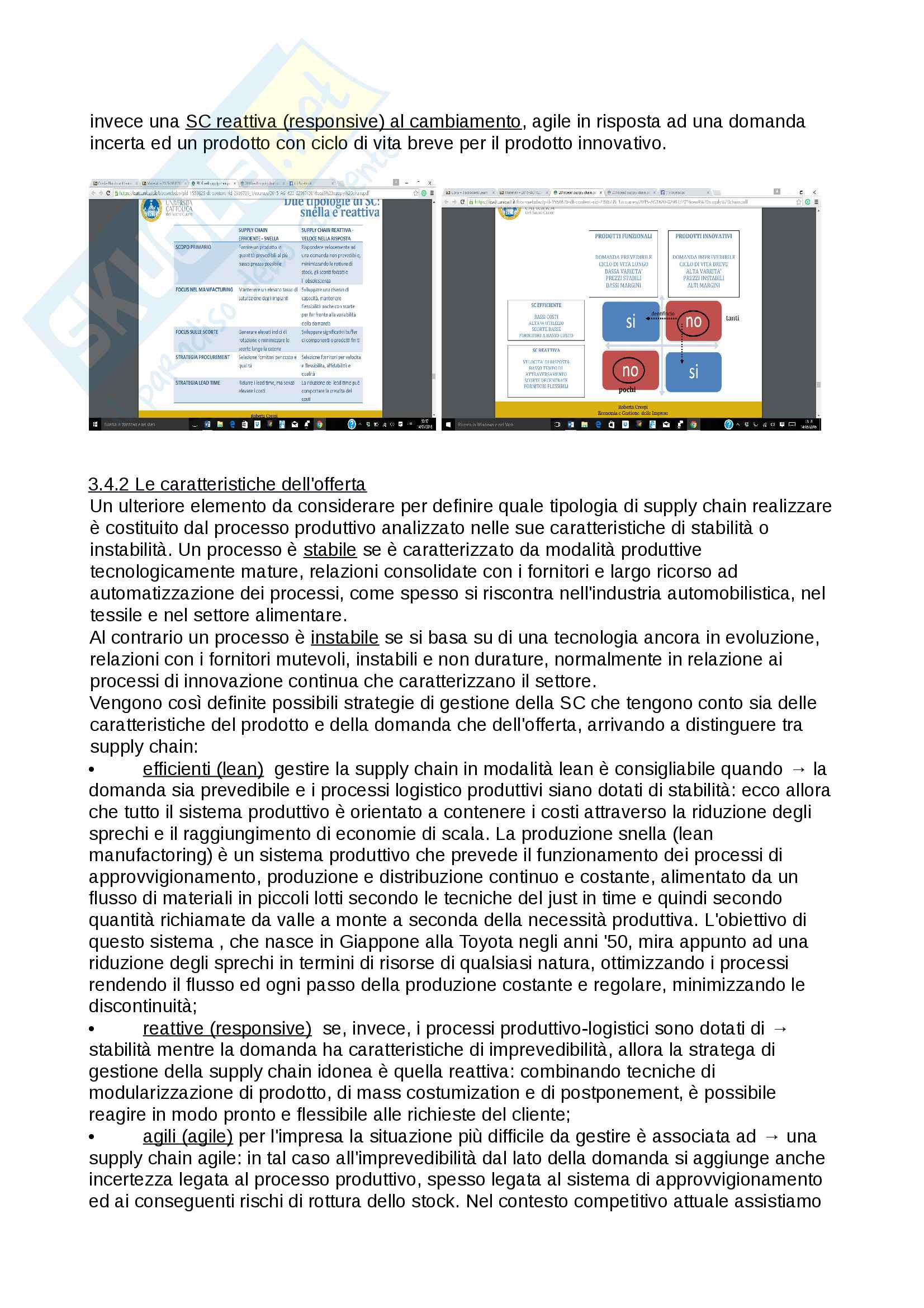 Operations, Supply Chain e Strategie competitive Pag. 11