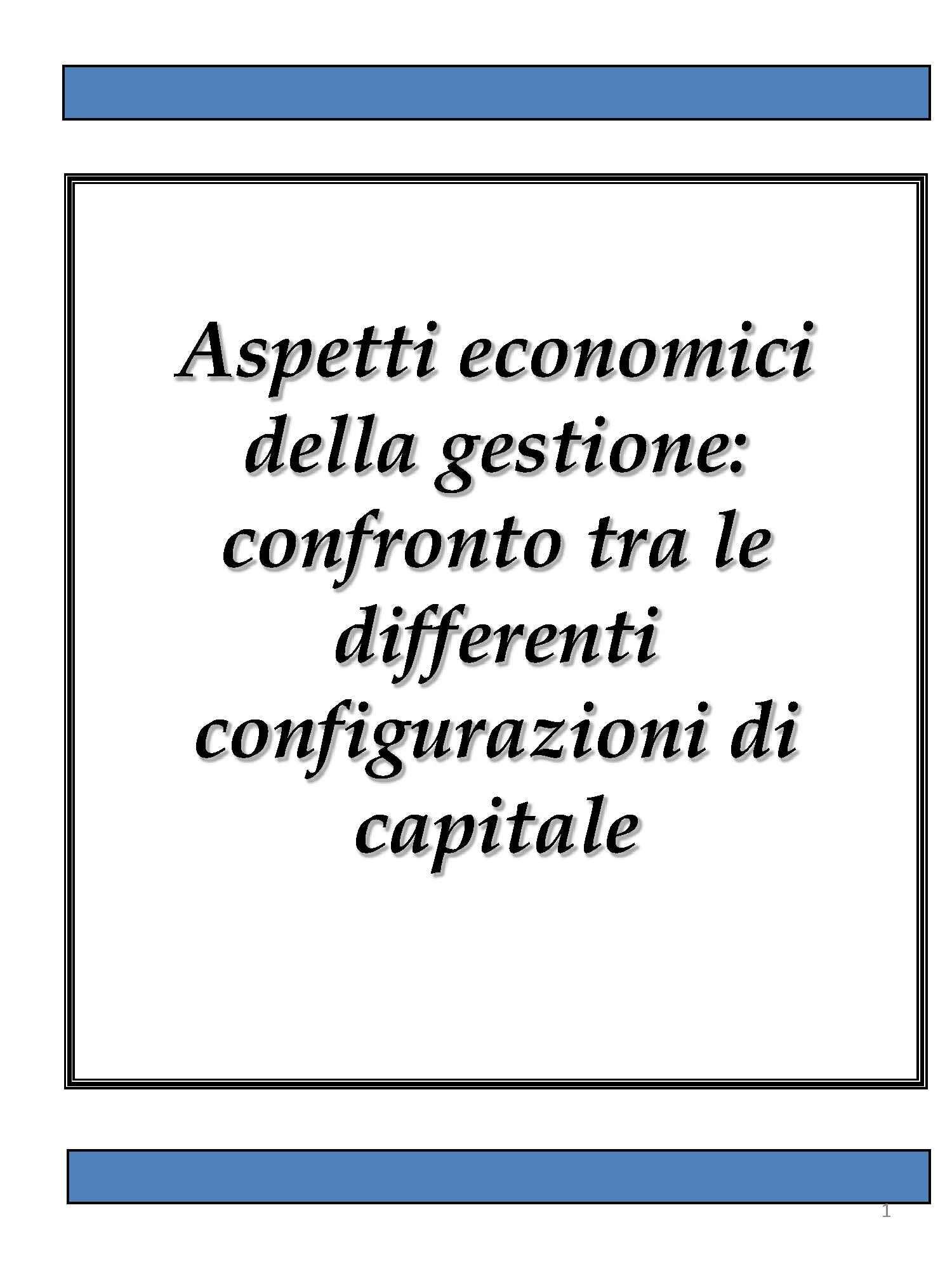 Configurazioni di capitale