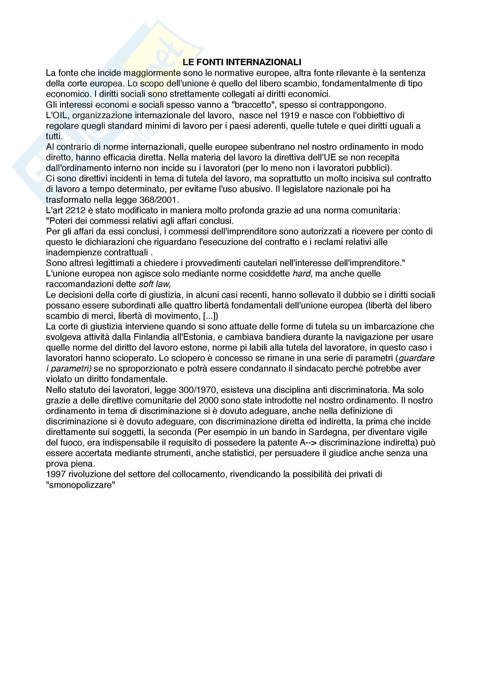 Appunti diritto del Lavoro Pag. 2