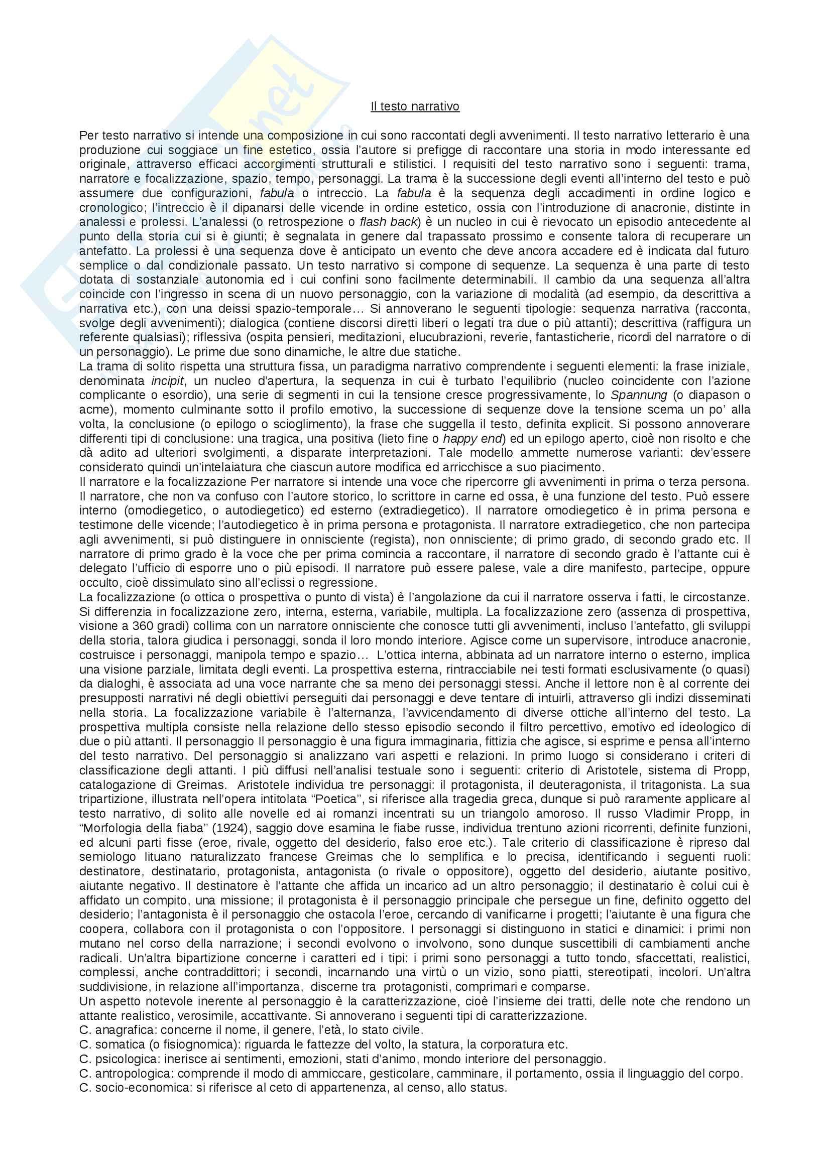 appunto A. Marciano Lineamenti di letteratura italiana contemporanea