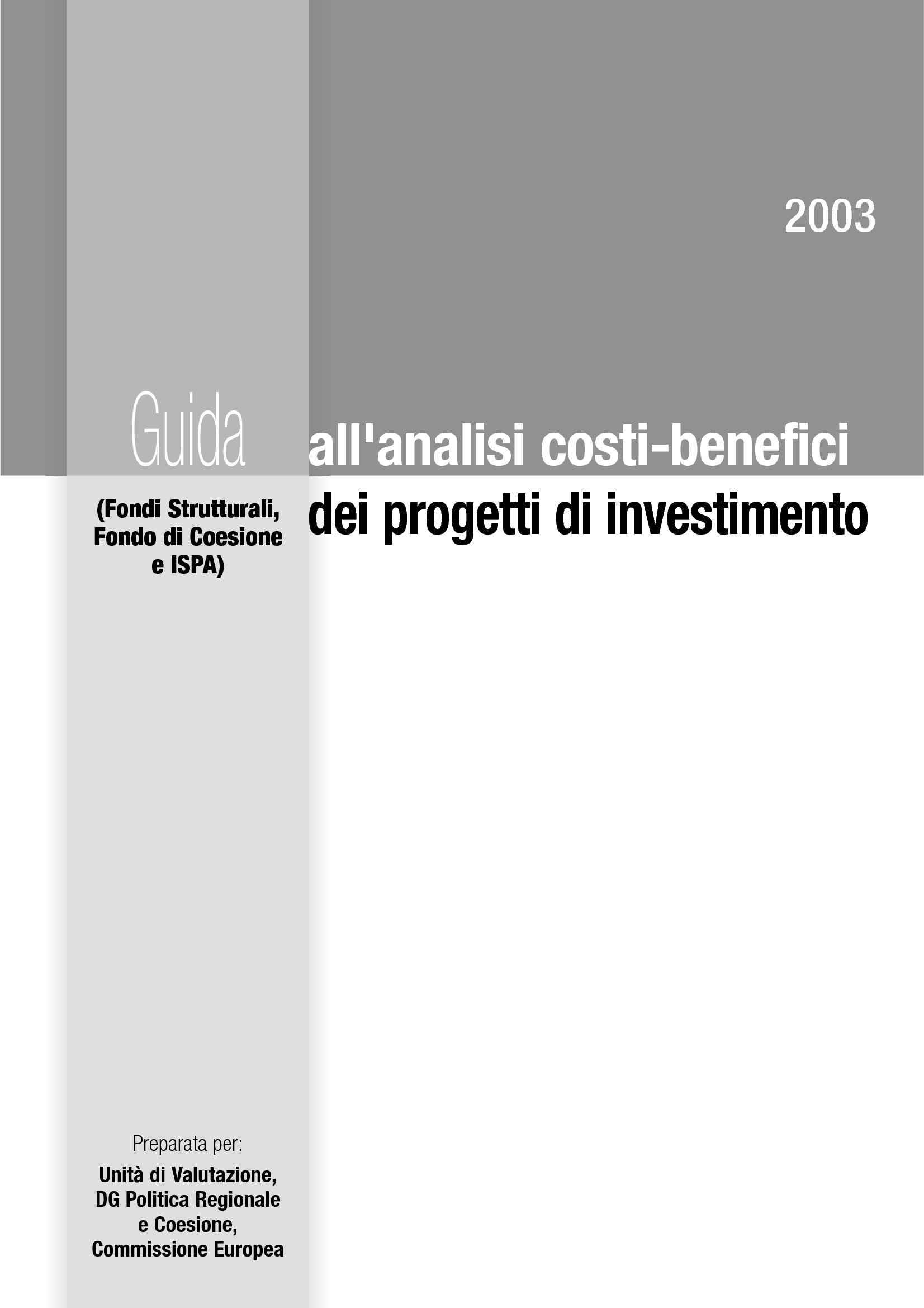 dispensa A. Cataldo Valutazione e finanziamento dei progetti