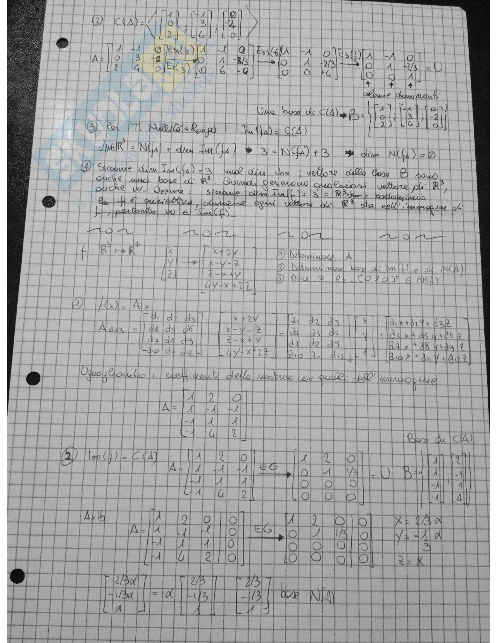 Algebra lineare - Esercizi Pag. 11