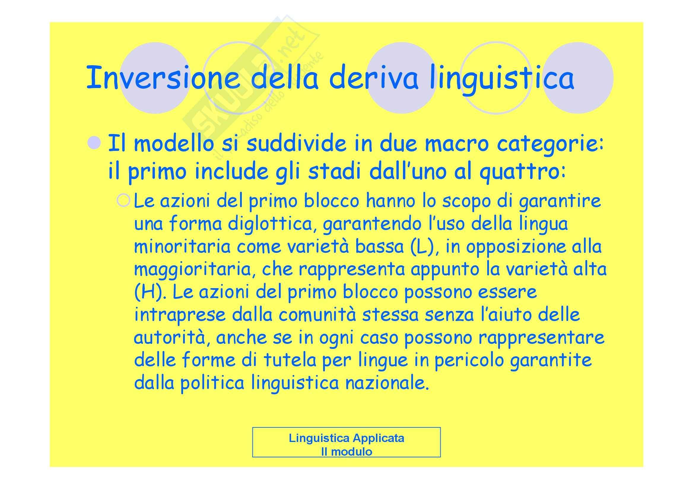 Linguistica applicata - la pianificazione linguistica Pag. 26
