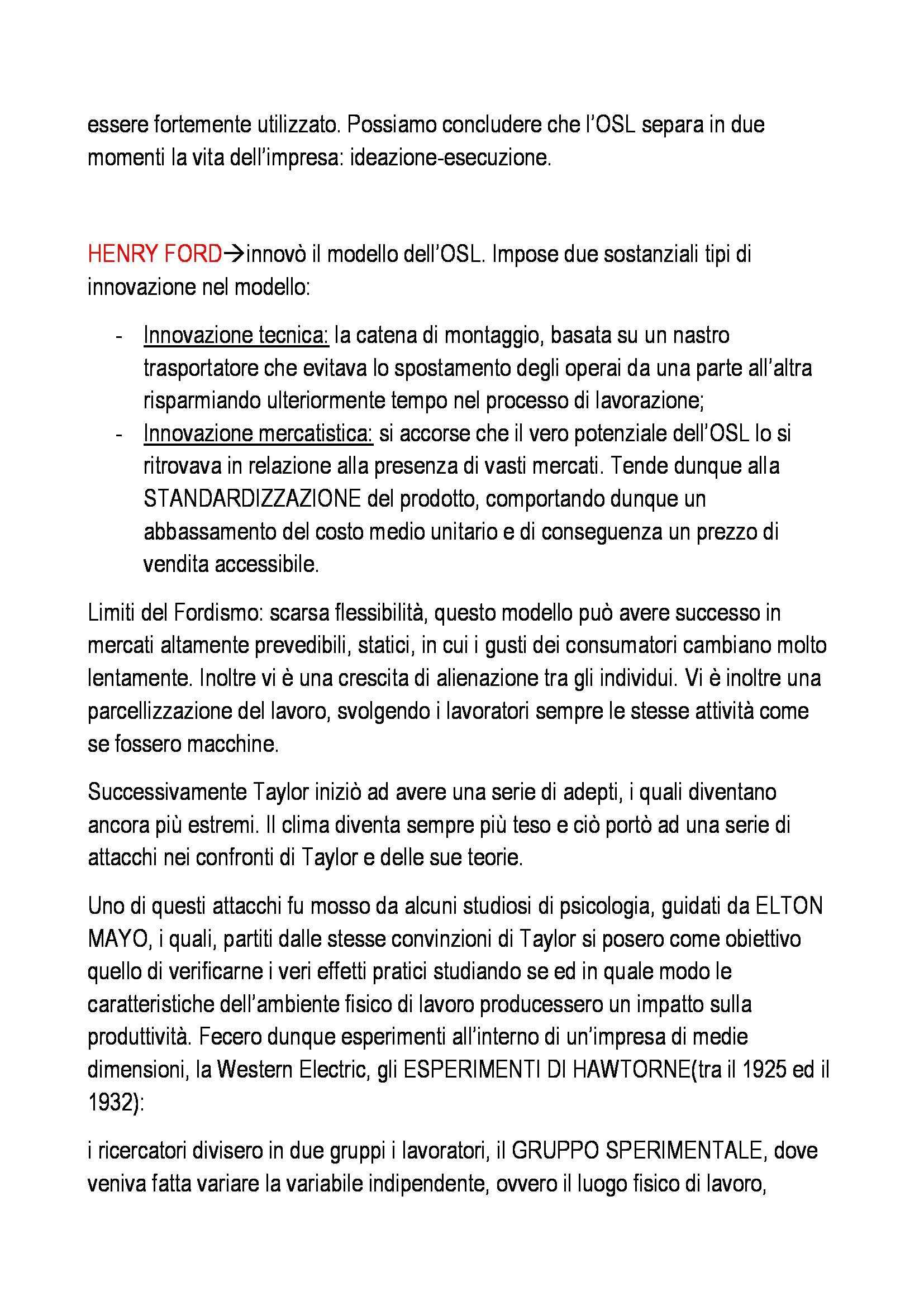 Organizzazione aziendale - Appunti Pag. 6