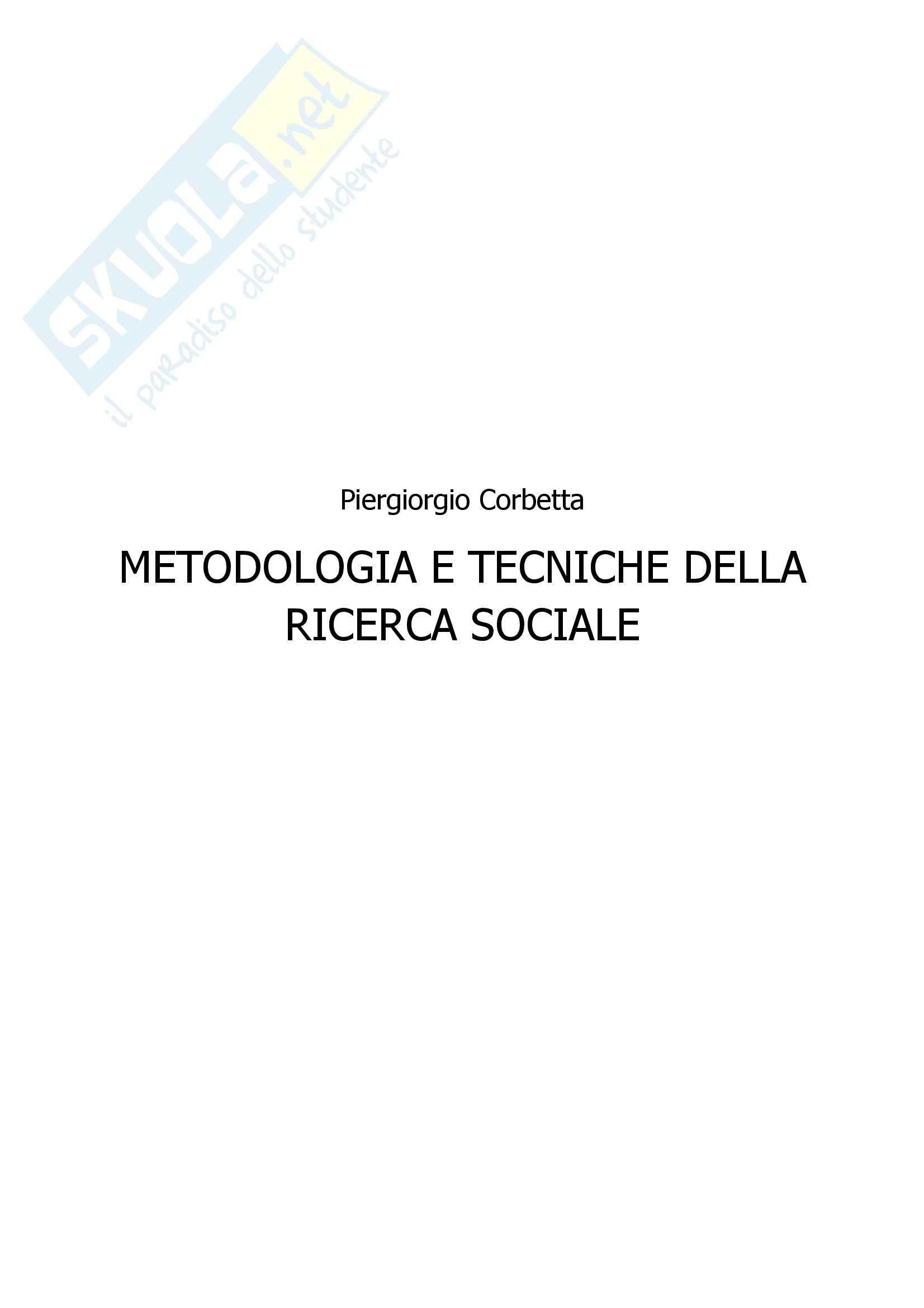 dispensa L. Frudà Tecniche della ricerca sociale