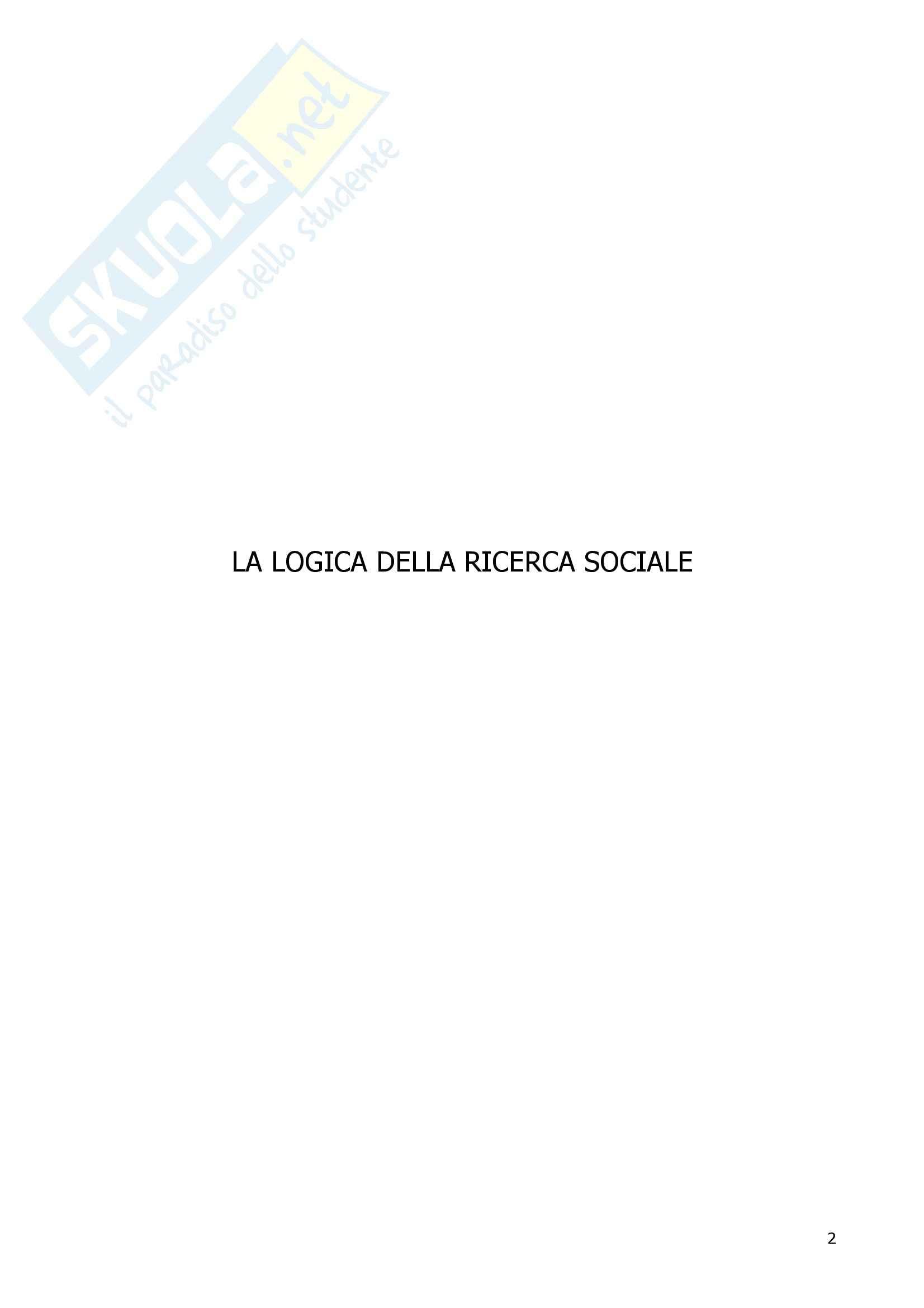 Metodologia e tecniche della ricerca sociale – Corbetta - Riassunto esame Pag. 2