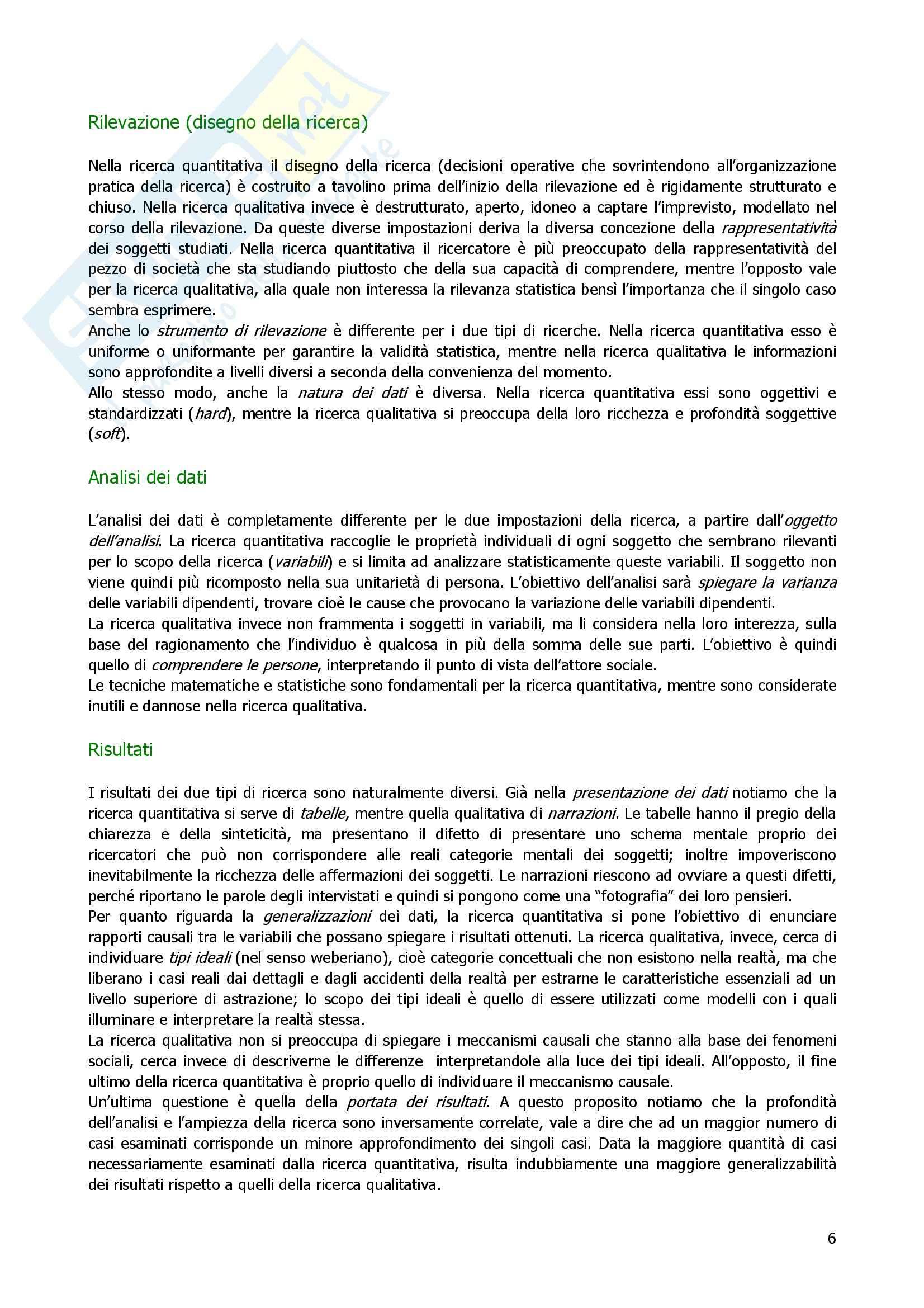 Metodologia e tecniche della ricerca sociale – Corbetta - Riassunto esame Pag. 6