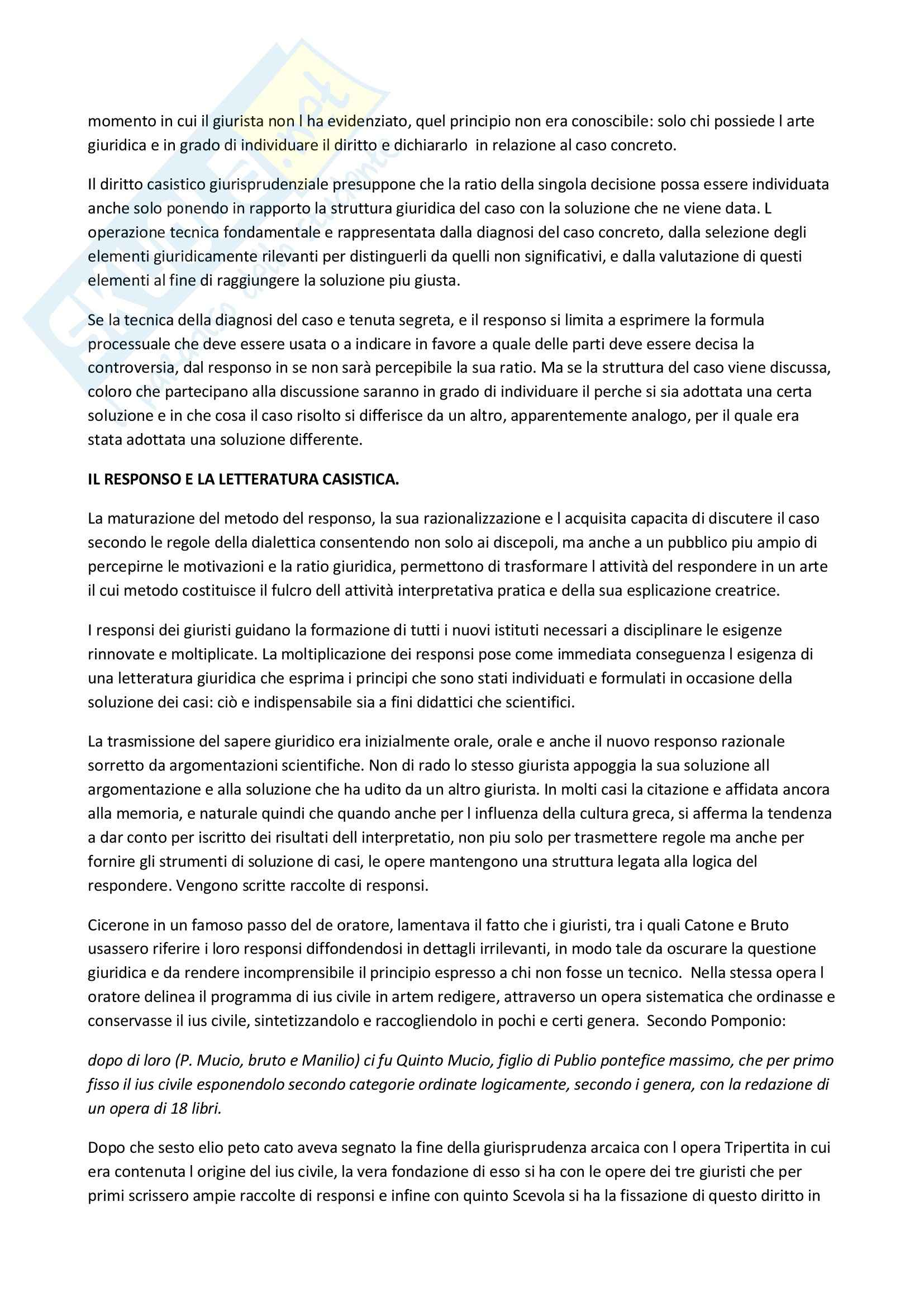 Riassunto esame diirtto romano, prof. Vacca, libro consigliato La giurisprudenza delle fonti del diritto romano, Vacca Pag. 16