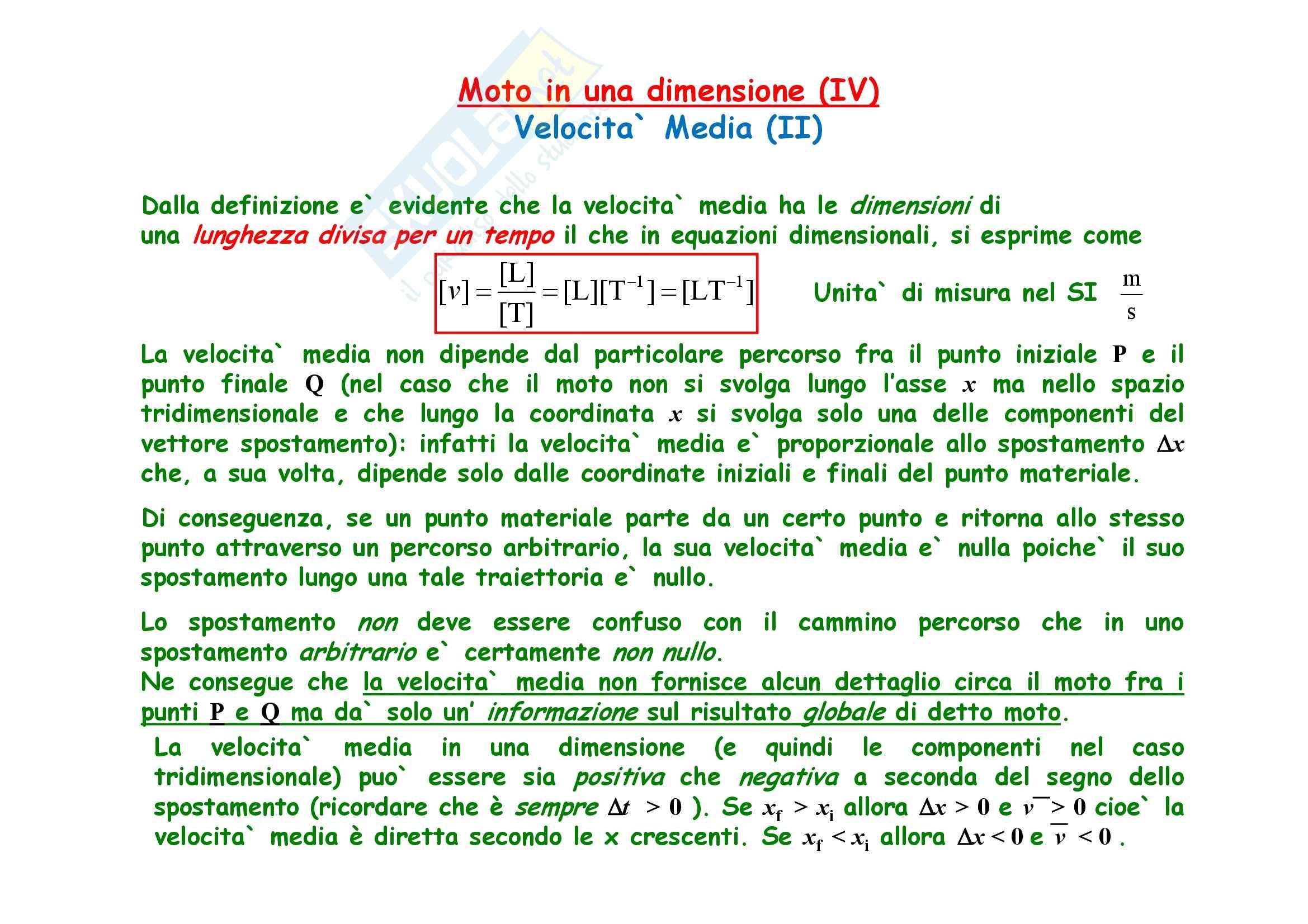 Fisica generale - la meccanica cinematica Pag. 6
