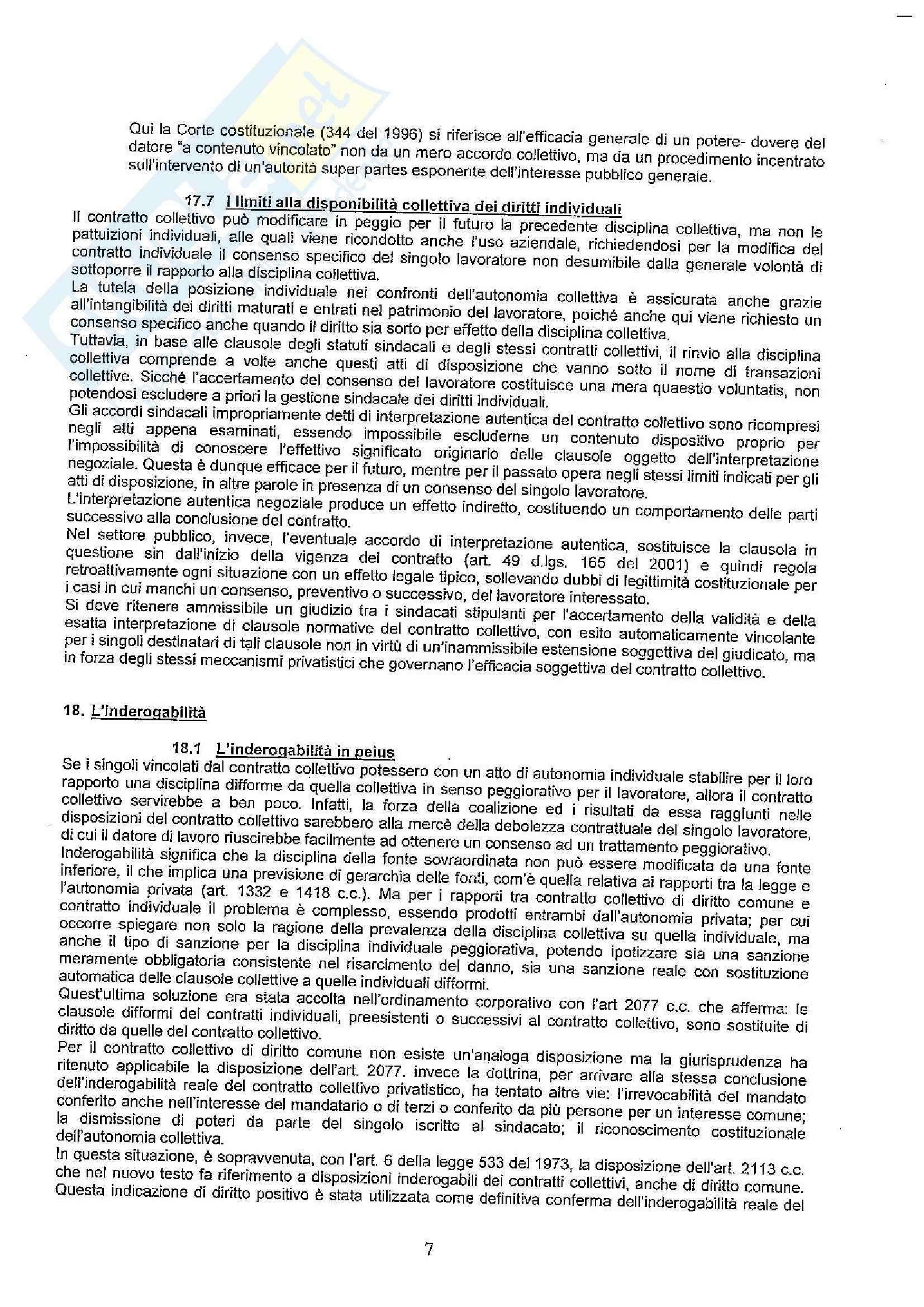 Contratto collettivo - Aspetti giuridici
