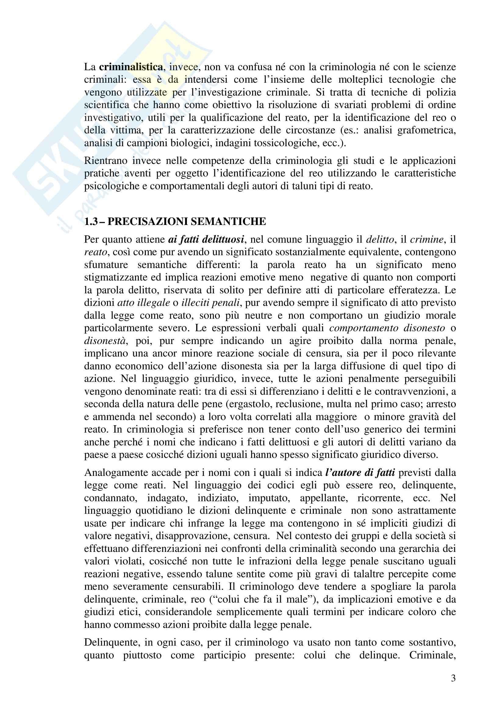 Riassunto esame Criminologia, prof. Bettini, libro consigliato Compendio di Criminologia, Ponti Pag. 2