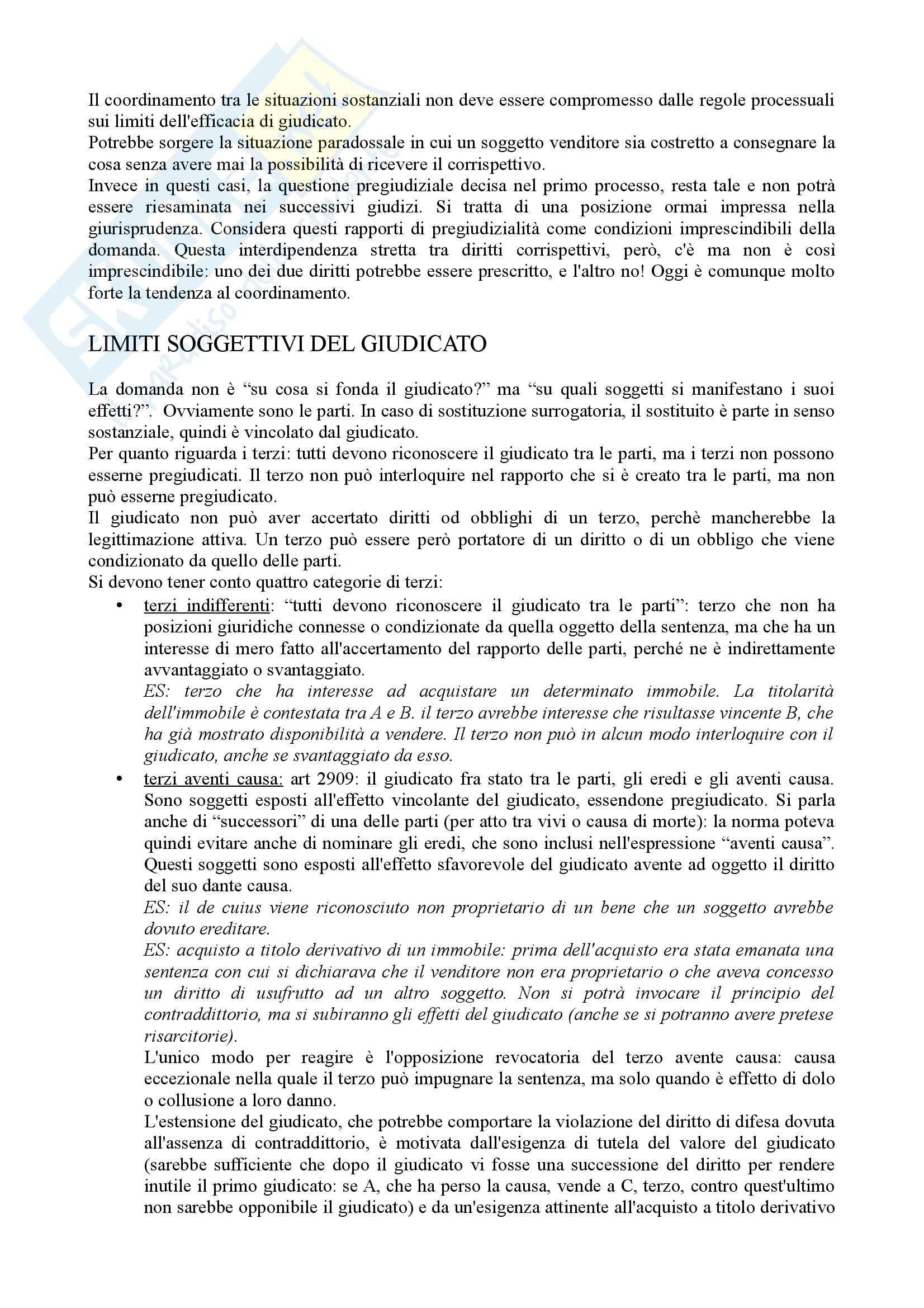 Diritto processuale civile - Appunti (parte 1) Pag. 21