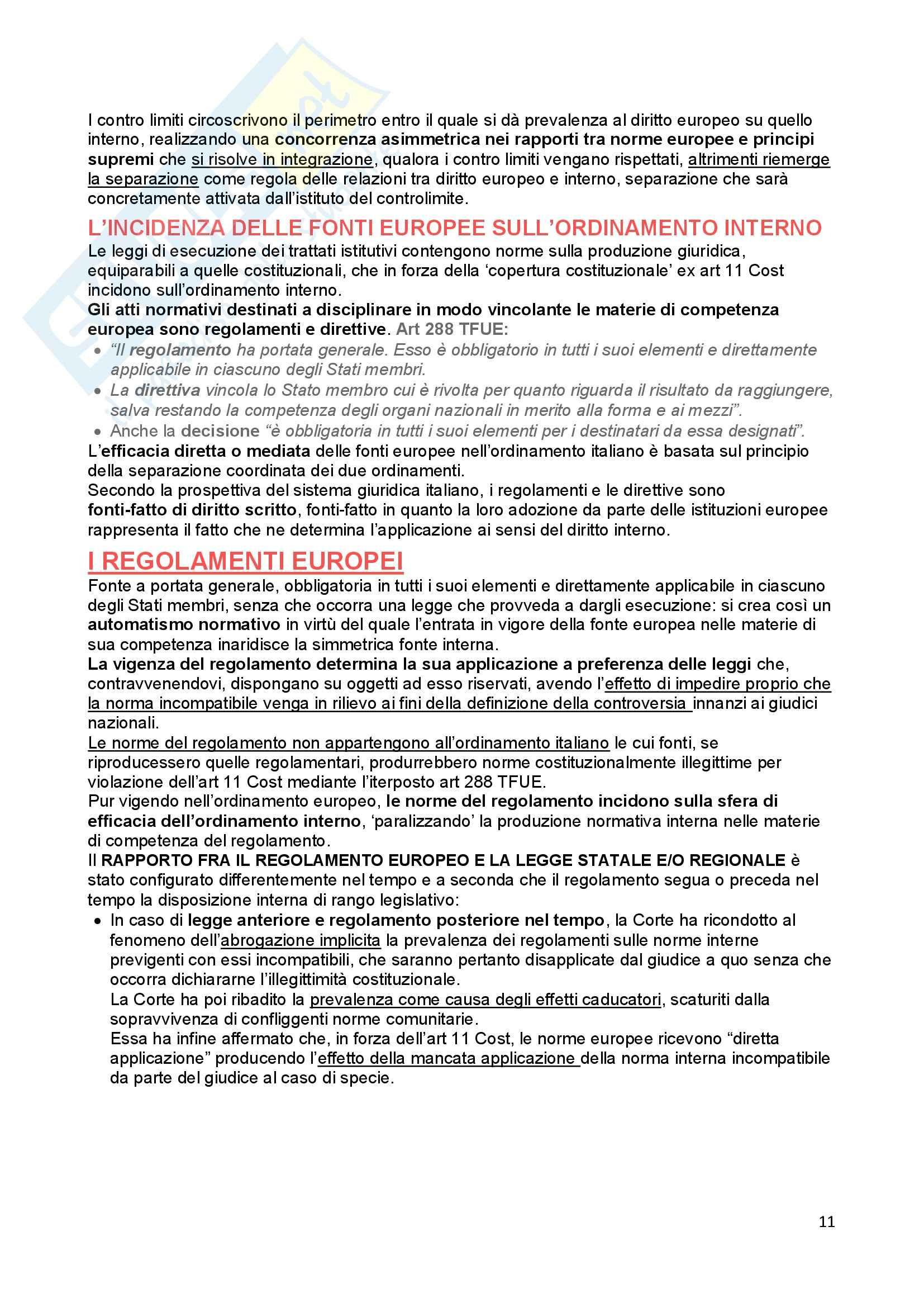 Riassunto esame Diritto Costituzionale, prof. Ferri, libro consigliato Fonti dell'ordinamento repubblicano, Pedrazza Gorlero Pag. 11