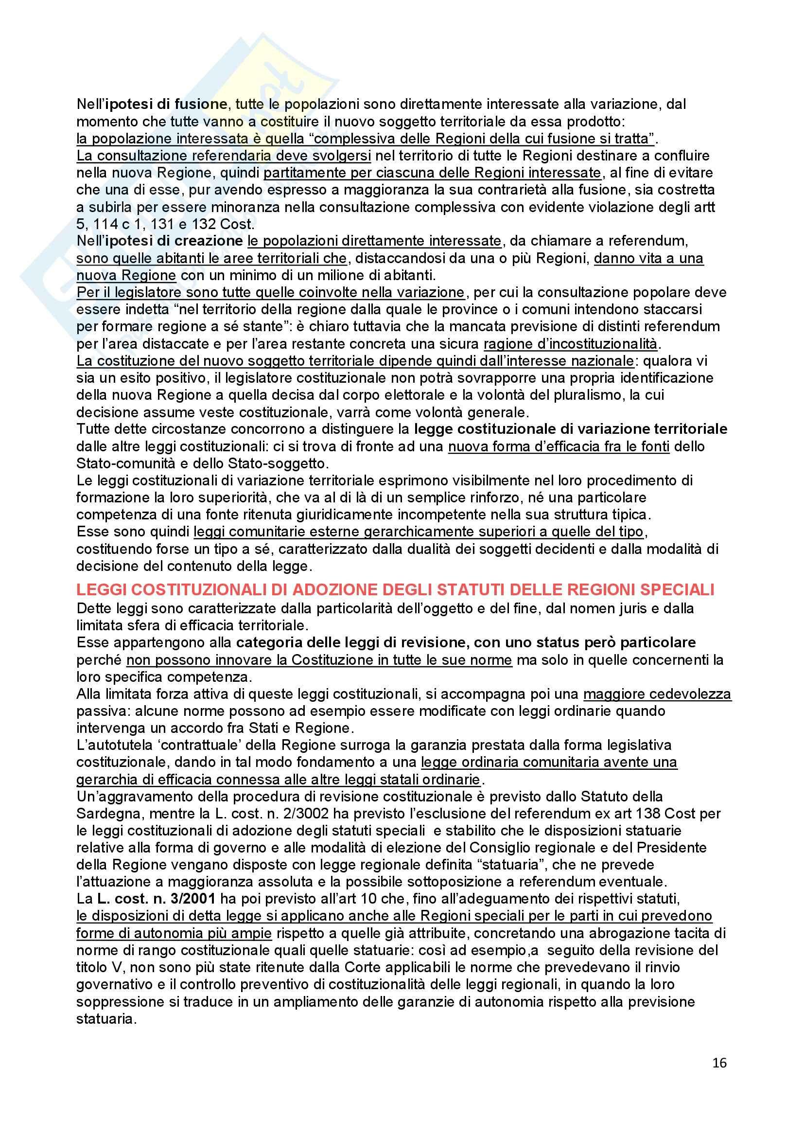 Riassunto esame Diritto Costituzionale, prof. Ferri, libro consigliato Fonti dell'ordinamento repubblicano, Pedrazza Gorlero Pag. 16