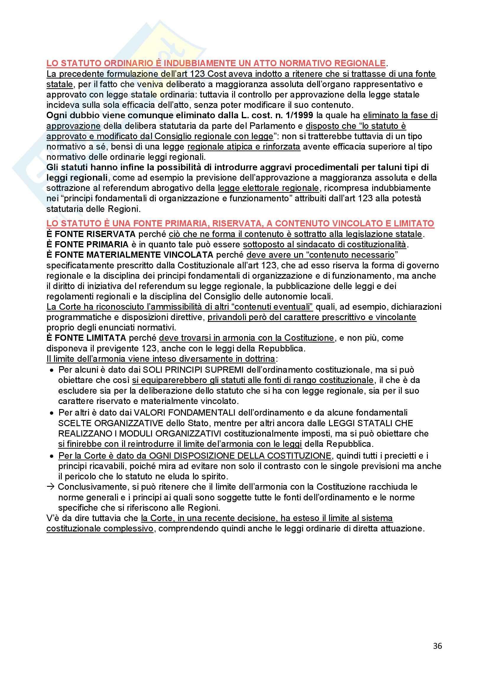 Riassunto esame Diritto Costituzionale, prof. Ferri, libro consigliato Fonti dell'ordinamento repubblicano, Pedrazza Gorlero Pag. 36