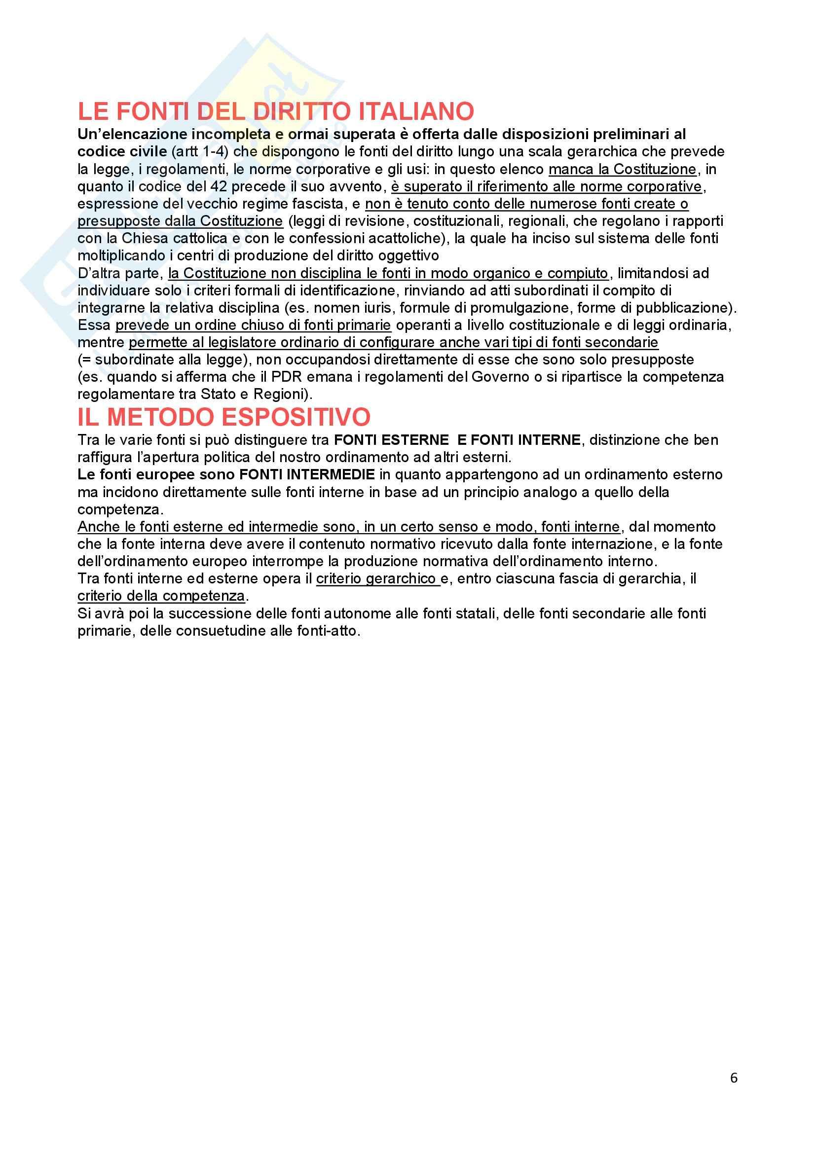 Riassunto esame Diritto Costituzionale, prof. Ferri, libro consigliato Fonti dell'ordinamento repubblicano, Pedrazza Gorlero Pag. 6