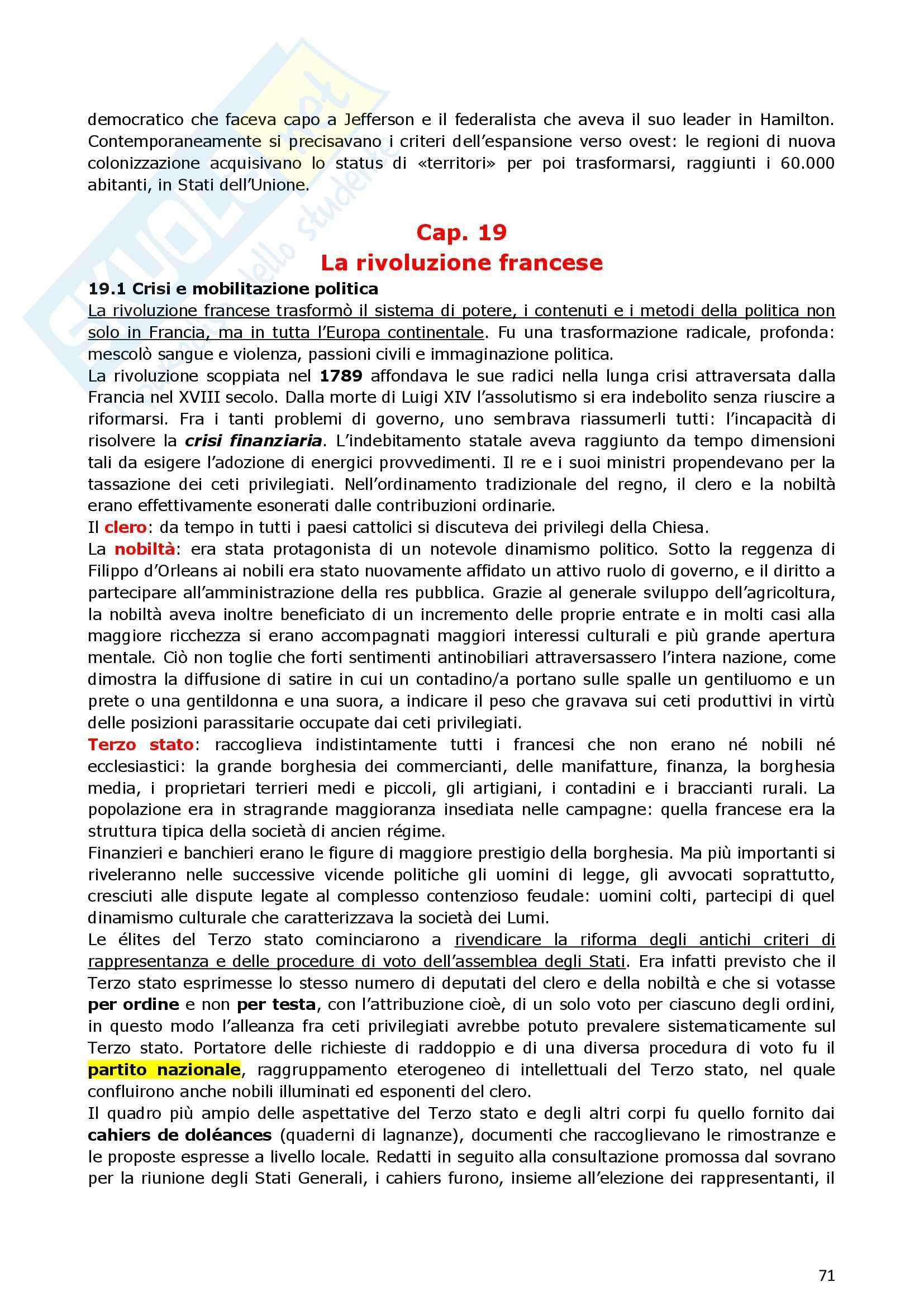 Riassunto esame Storia Moderna, prof. indefinito, libro consigliato Manuale di storia moderna, Ago, Vidotto Pag. 71