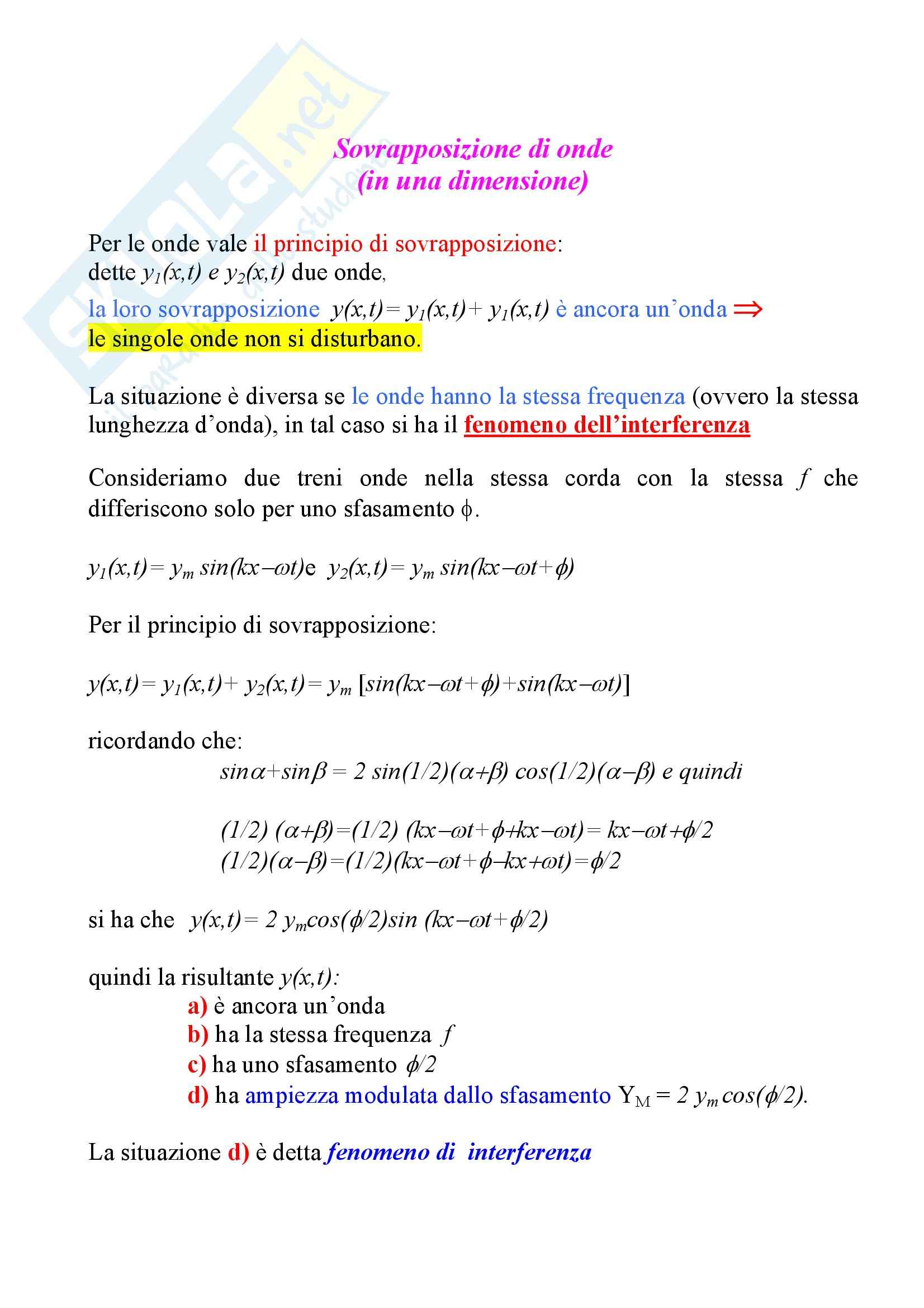 Fisica statistica ed informatica – Interferenza