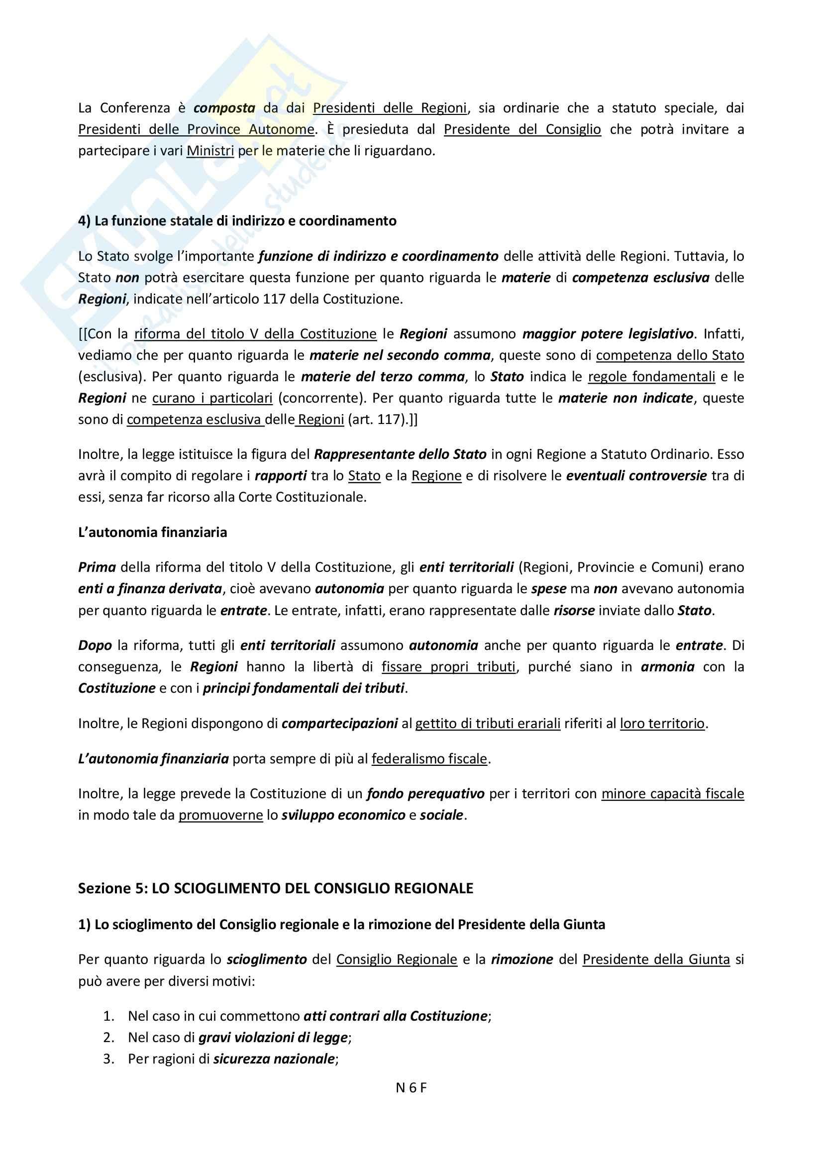 Enti Territoriali, Diritto pubblico Pag. 6