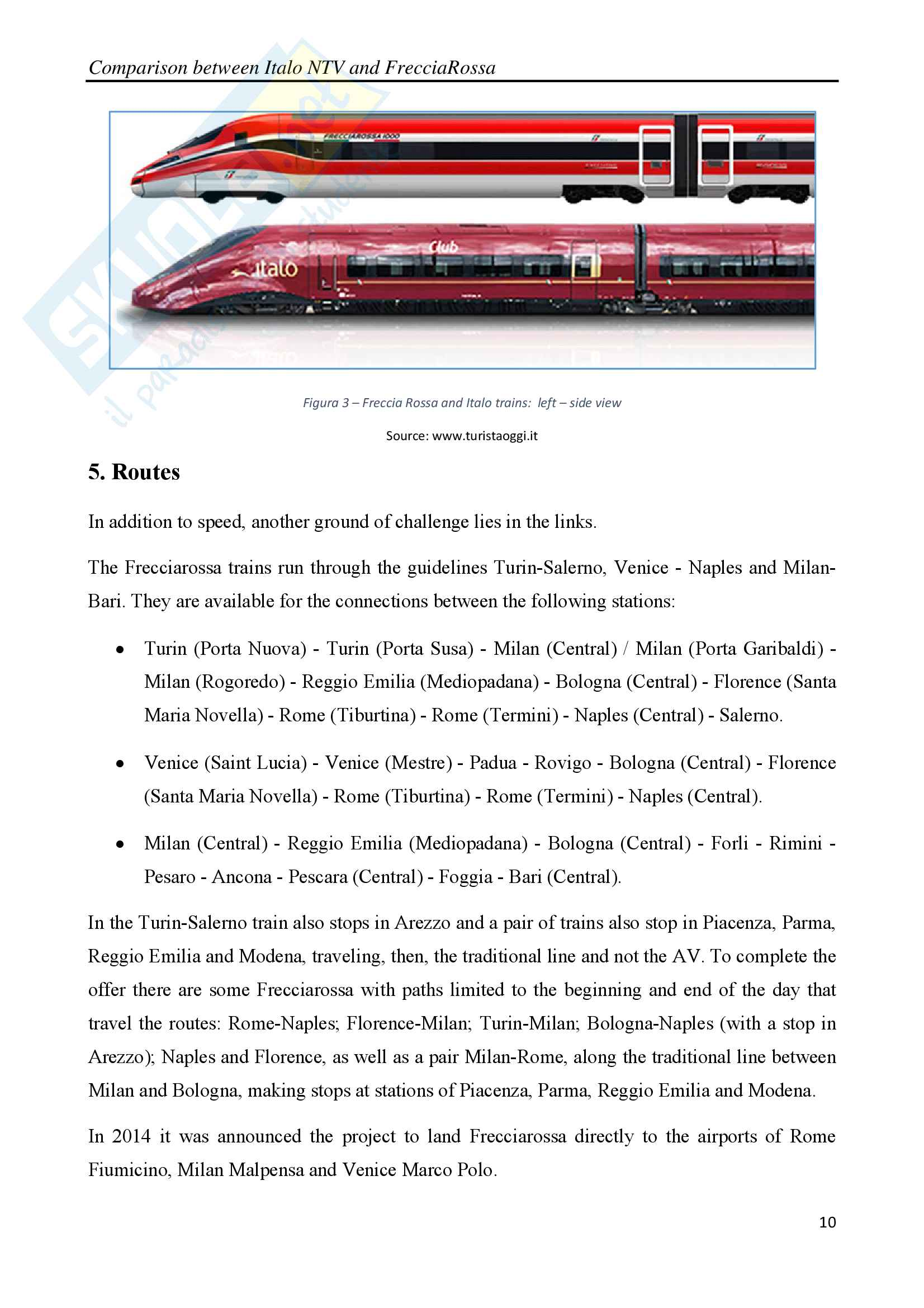 Comparison between Italo NTV and FrecciaRossa with legal, social and economic considerations Pag. 11