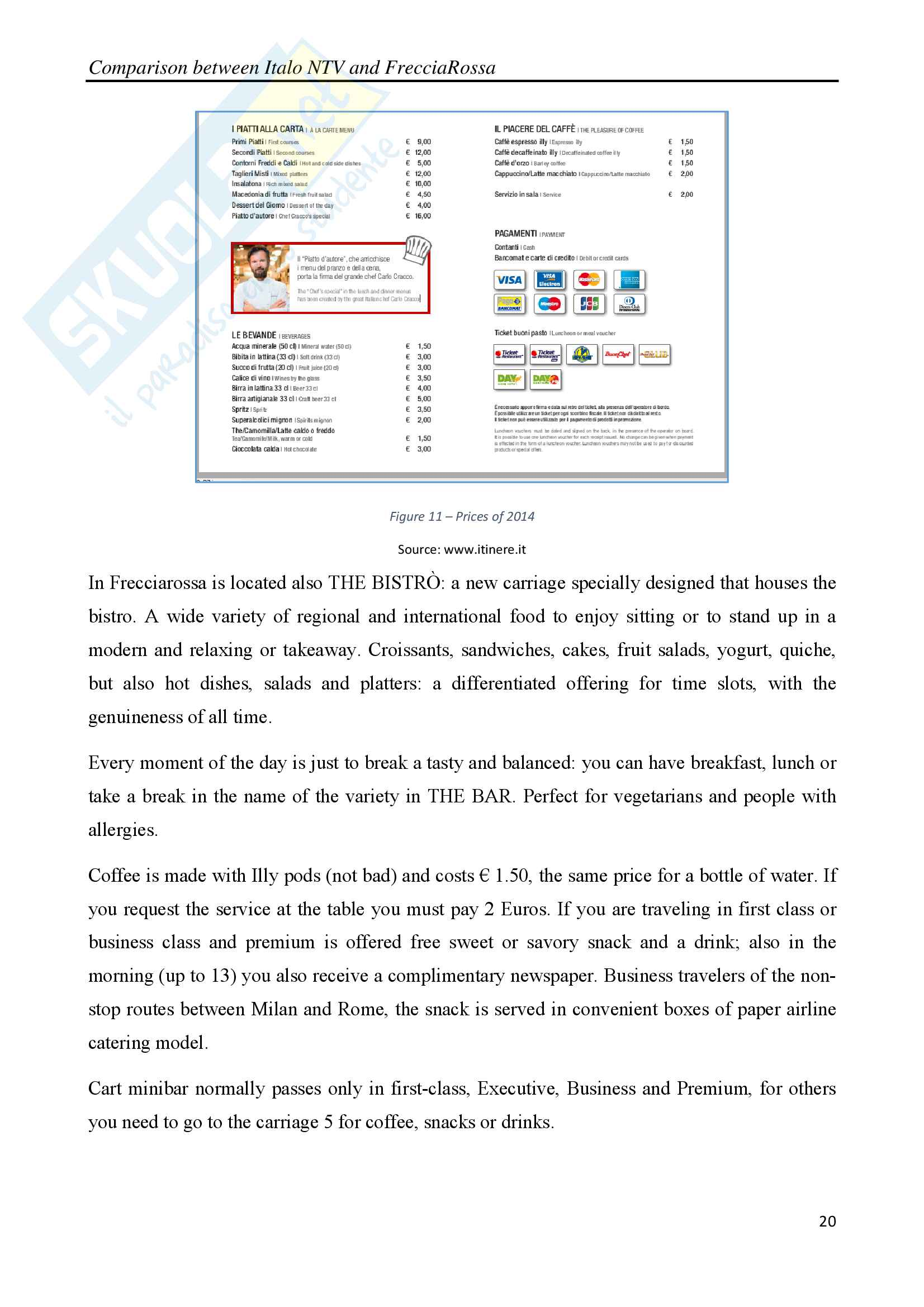 Comparison between Italo NTV and FrecciaRossa with legal, social and economic considerations Pag. 21