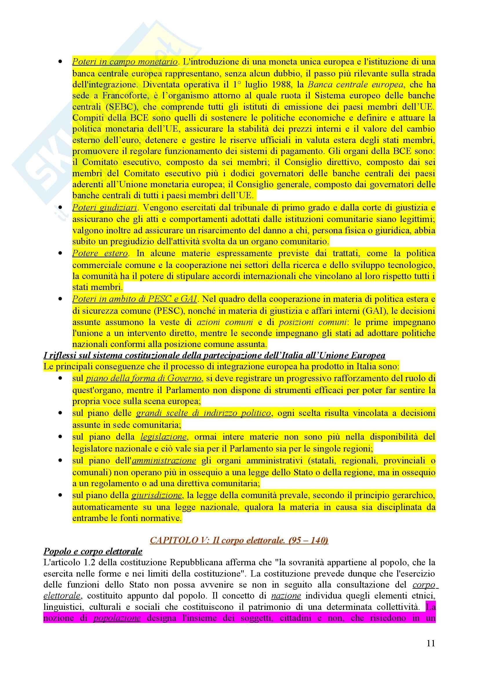 Riassunto esame diritto pubblico, prof. Caravita Pag. 11
