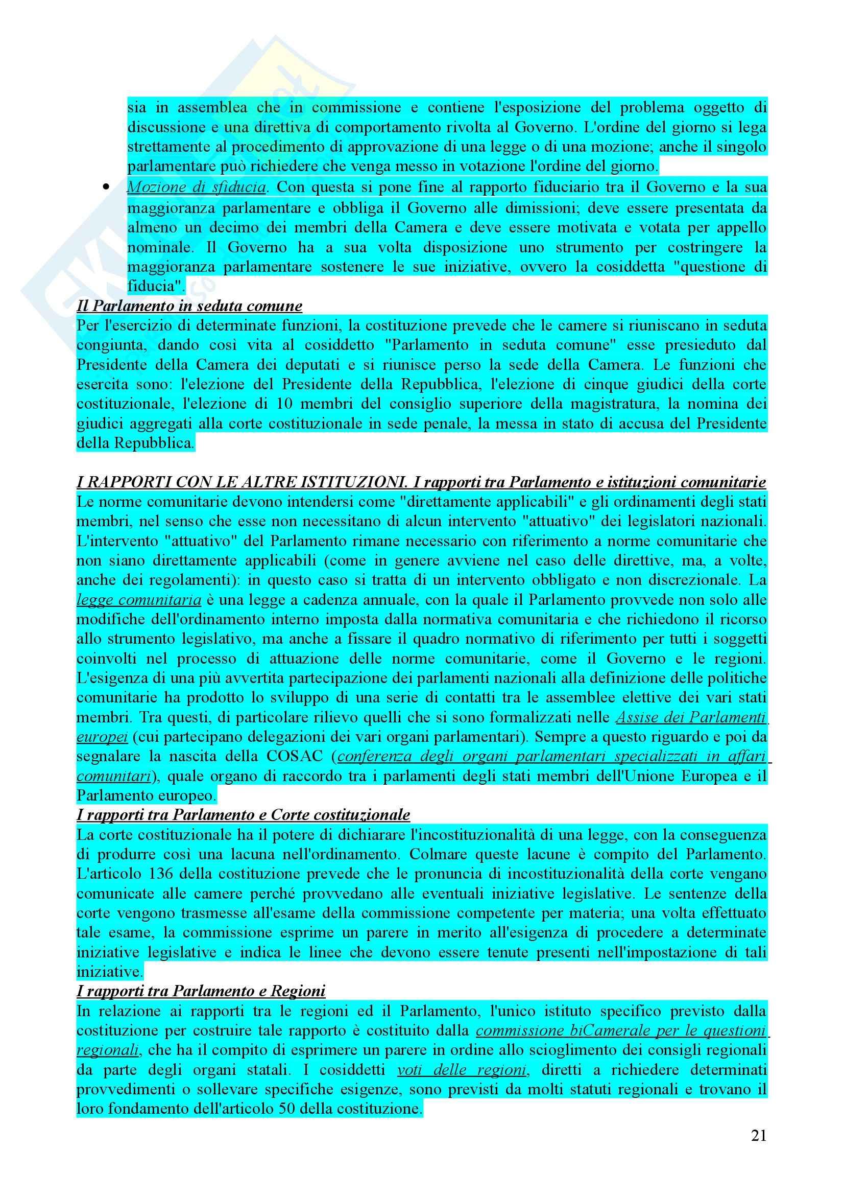 Riassunto esame diritto pubblico, prof. Caravita Pag. 21