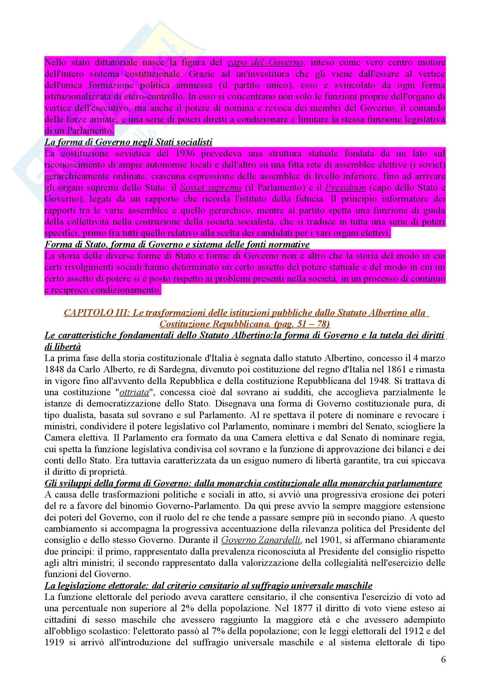 Riassunto esame diritto pubblico, prof. Caravita Pag. 6