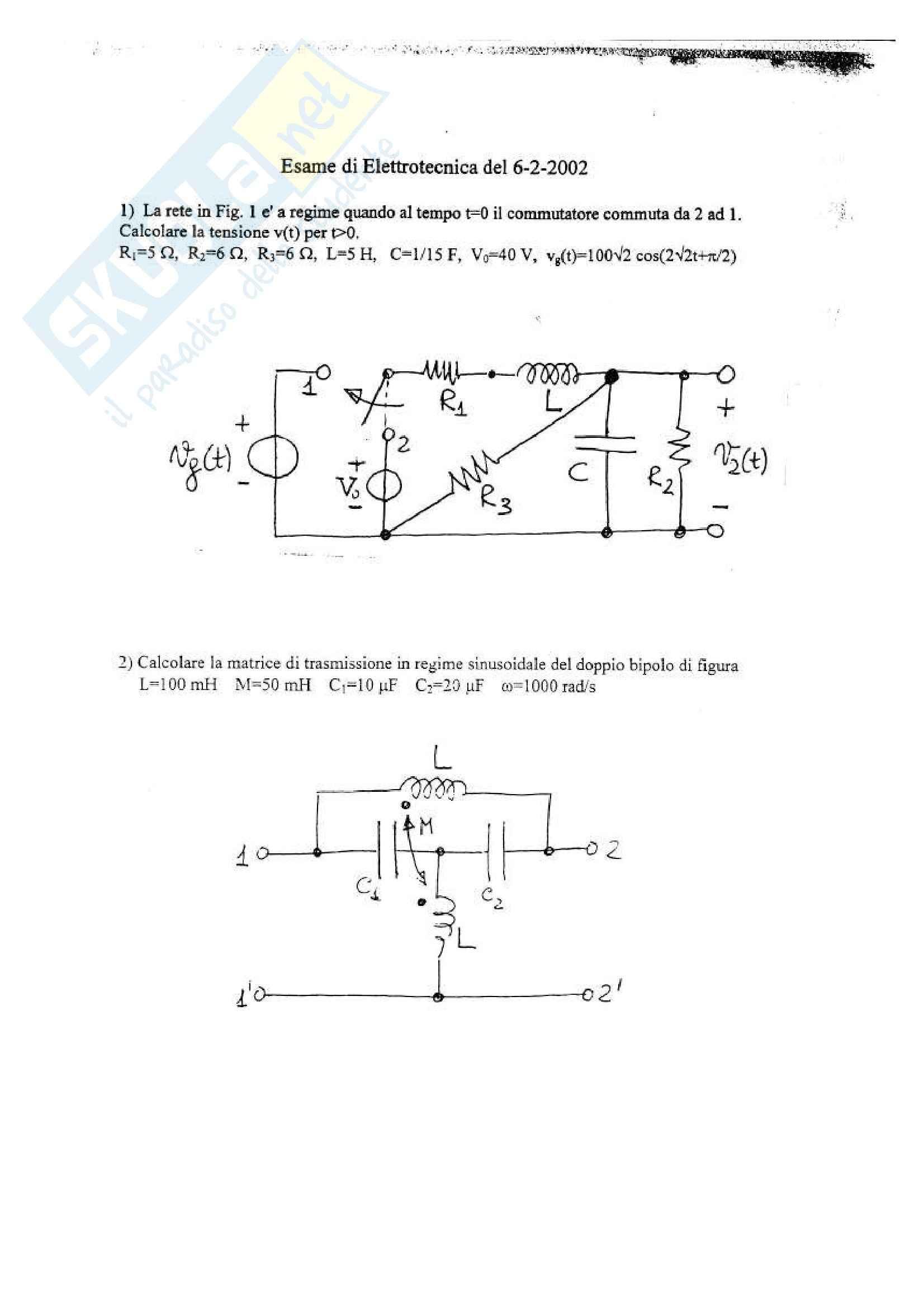 Elettrotecnica - Testi esercizi