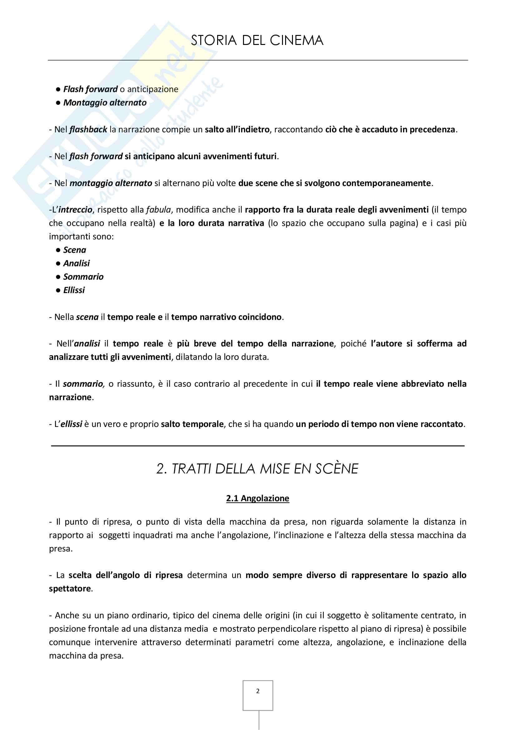 Storia del cinema - Appunti e schede dei film in programma Pag. 2