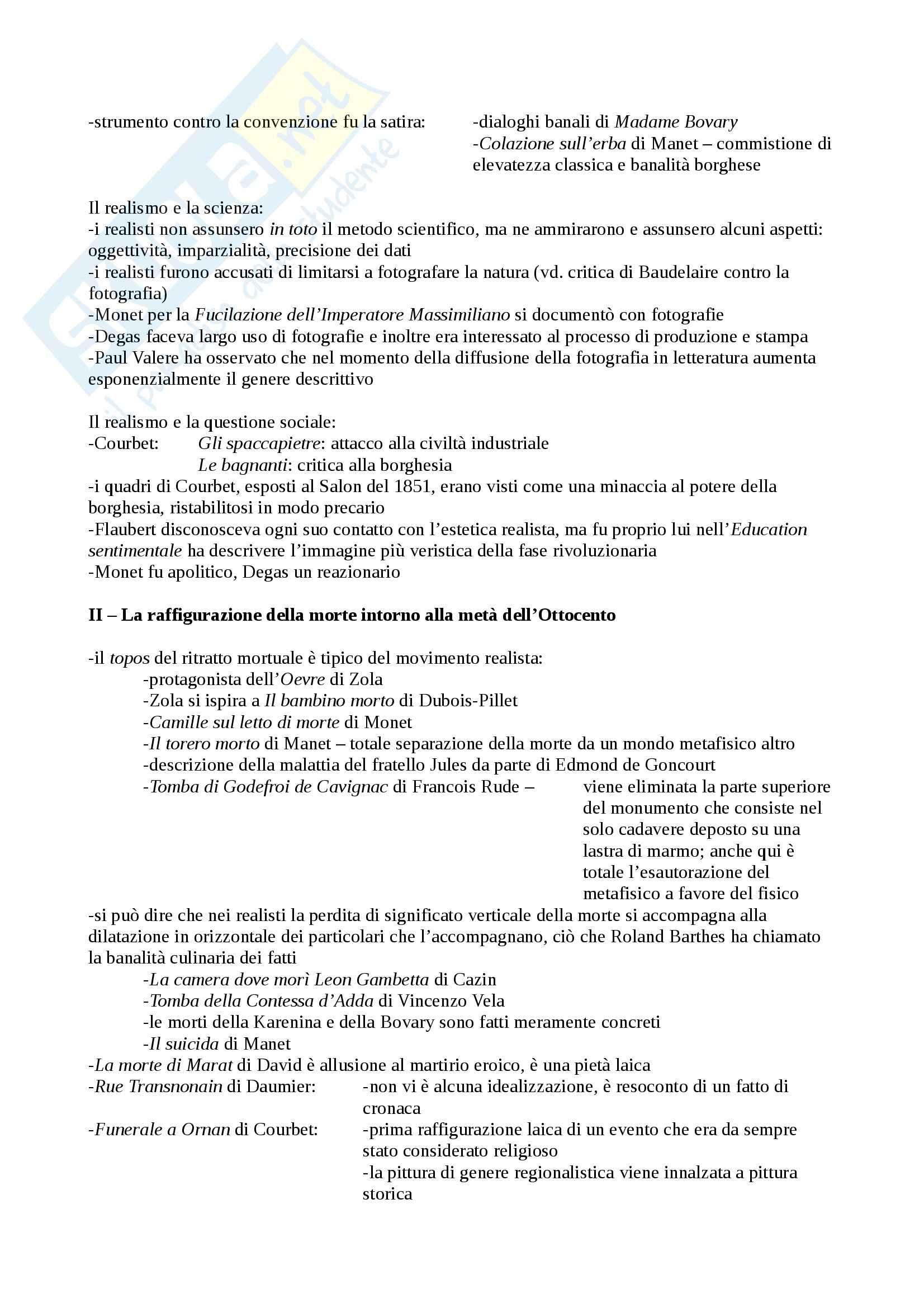 Riassunto esame Storia dell'Arte Moderna e Contemporanea, prof. Patti, libro consigliato Il Realismo nella Pittura Europea del XIX Secolo, Nochlin Pag. 2
