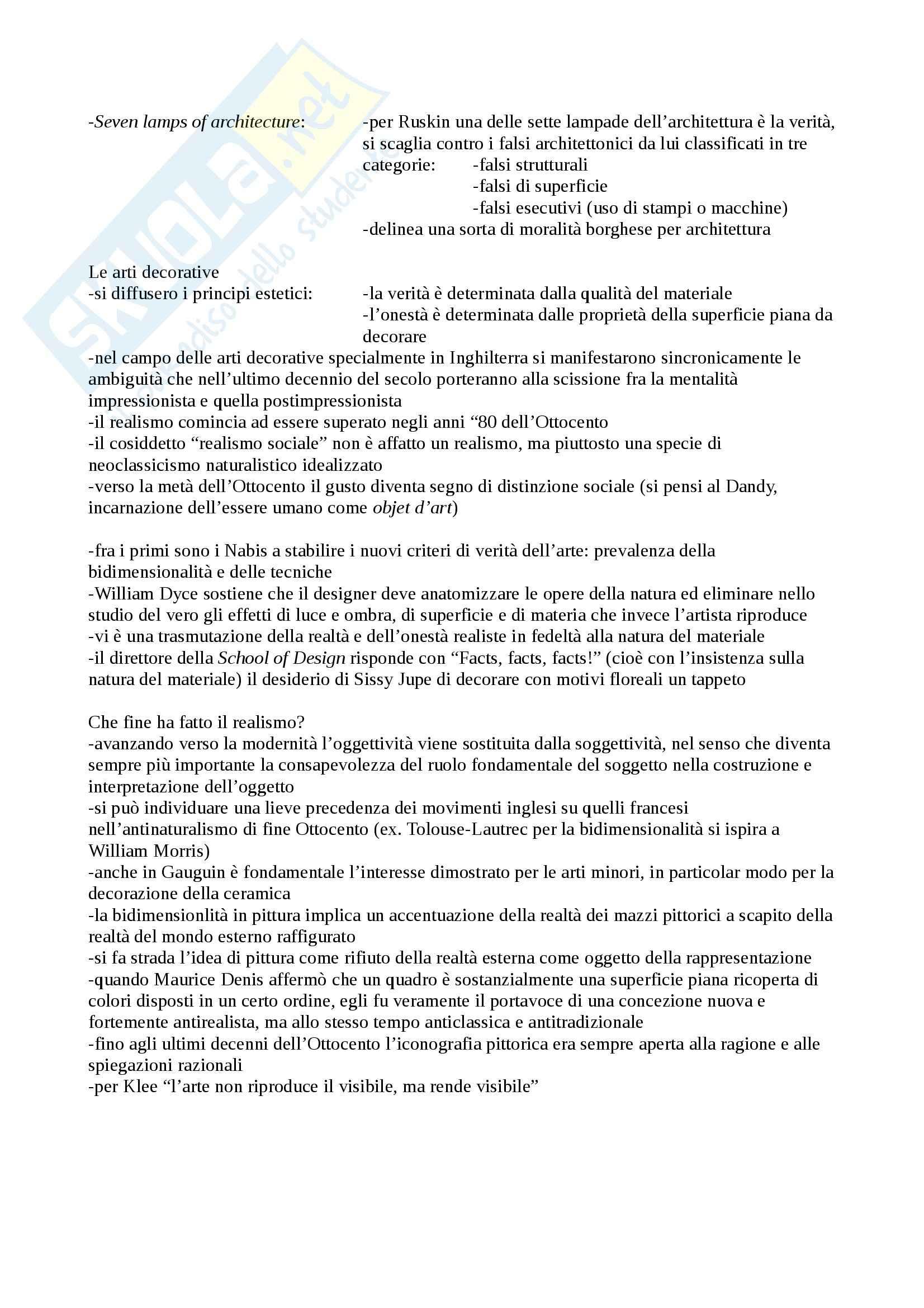 Riassunto esame Storia dell'Arte Moderna e Contemporanea, prof. Patti, libro consigliato Il Realismo nella Pittura Europea del XIX Secolo, Nochlin Pag. 6