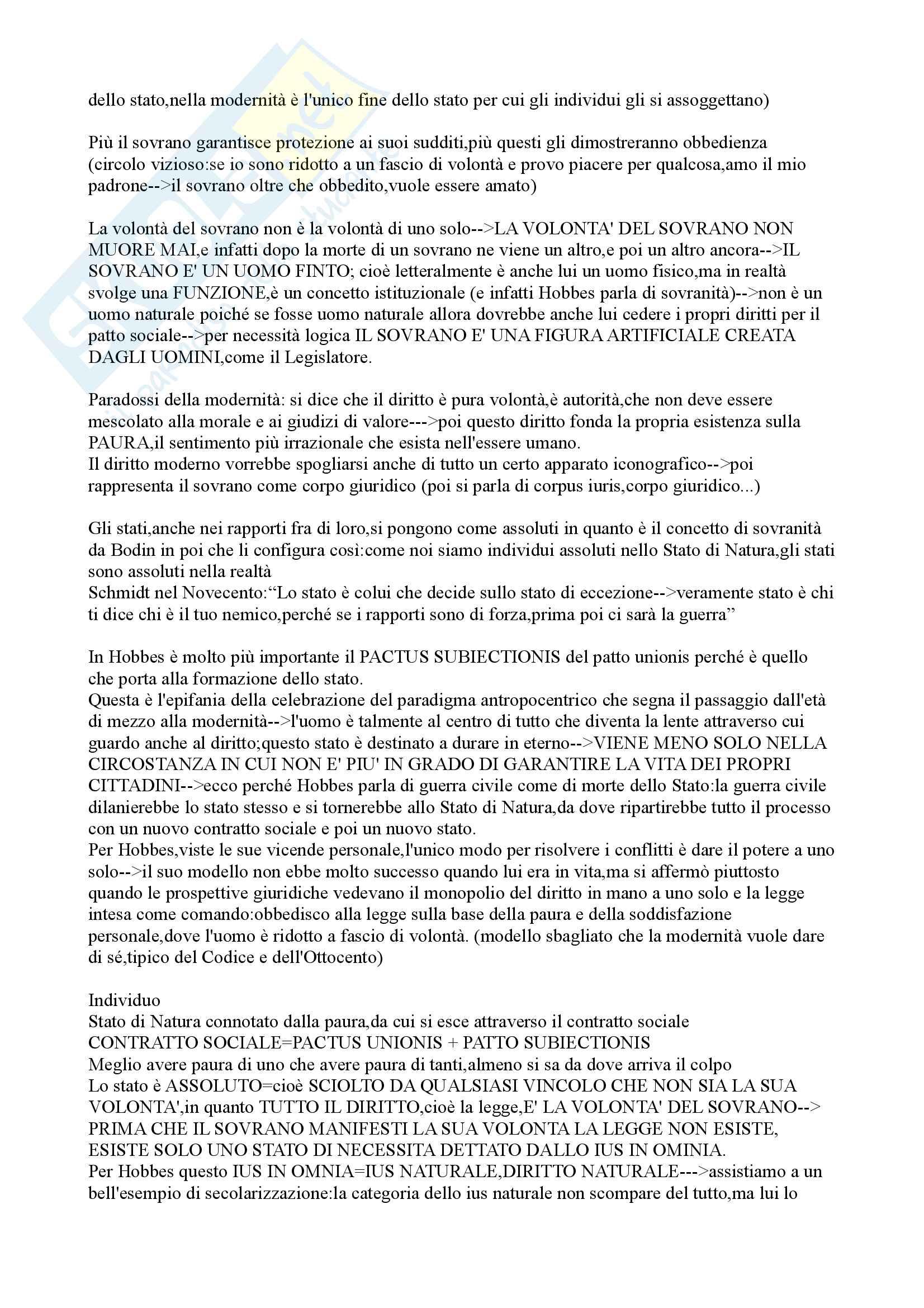 Appunti filosofia del diritto prof MANZIN A/L 2015 Giurisprudenza Università di Trento parte 3:San Tommaso,Grozio,Cartesio,Hobbes,Locke,Rousseau,Scolastica Pag. 31