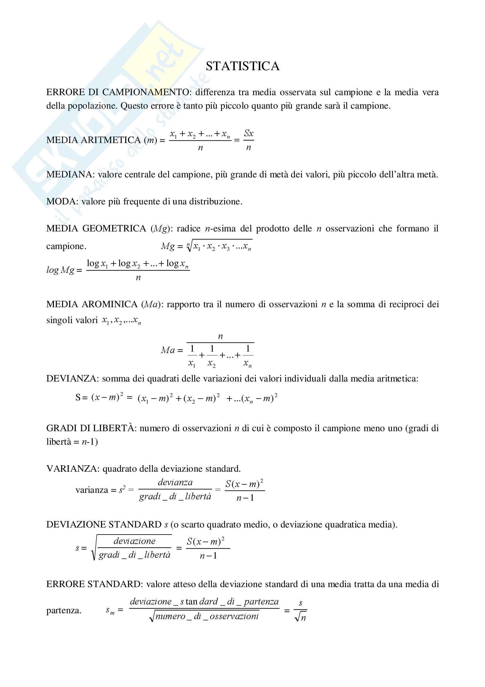 Fisica statistica ed informatica – Statistica