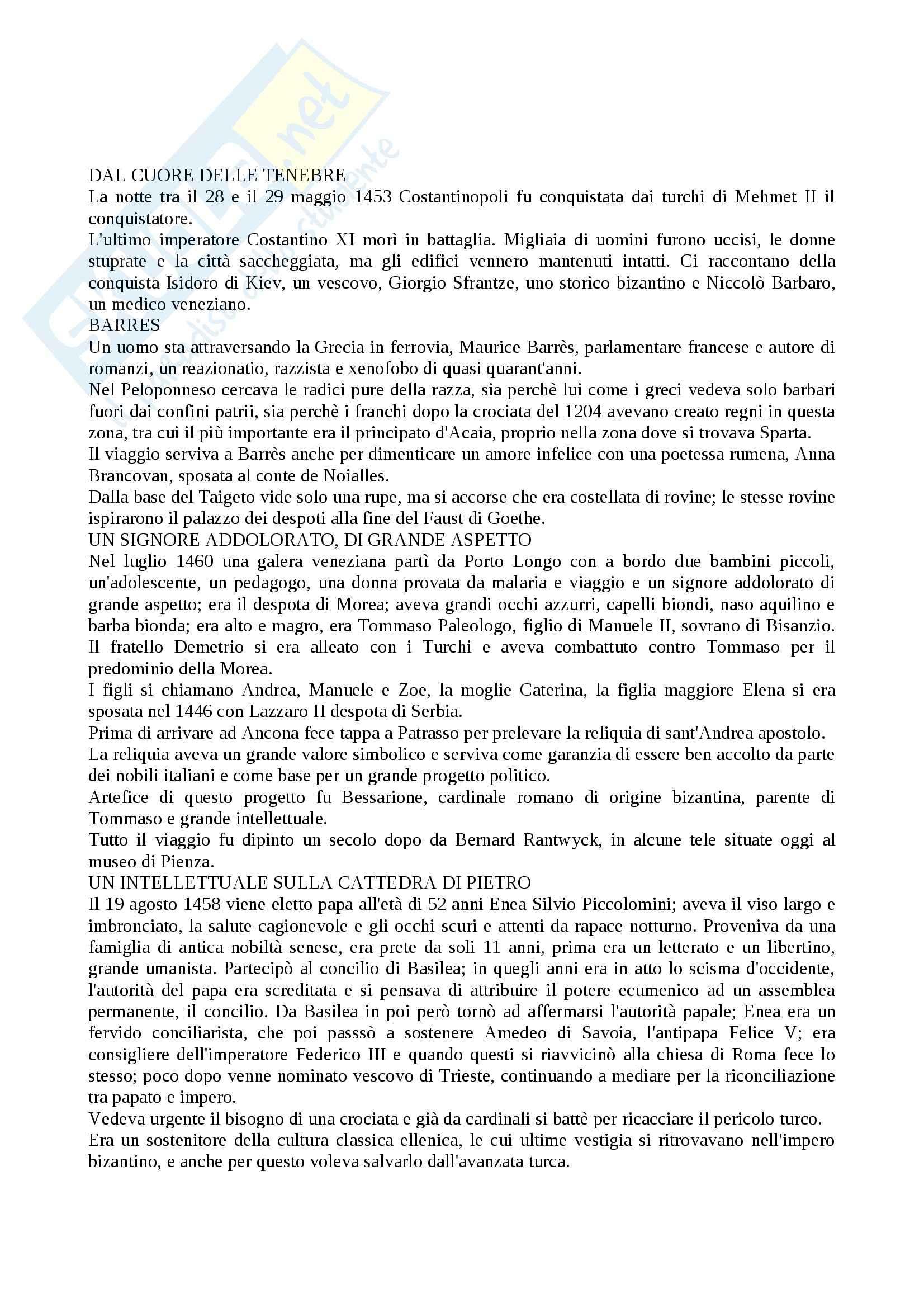 Riassunto esame Storia moderna, prof. Pellegrini, libro consigliato L'enigma di Piero, Ronchey