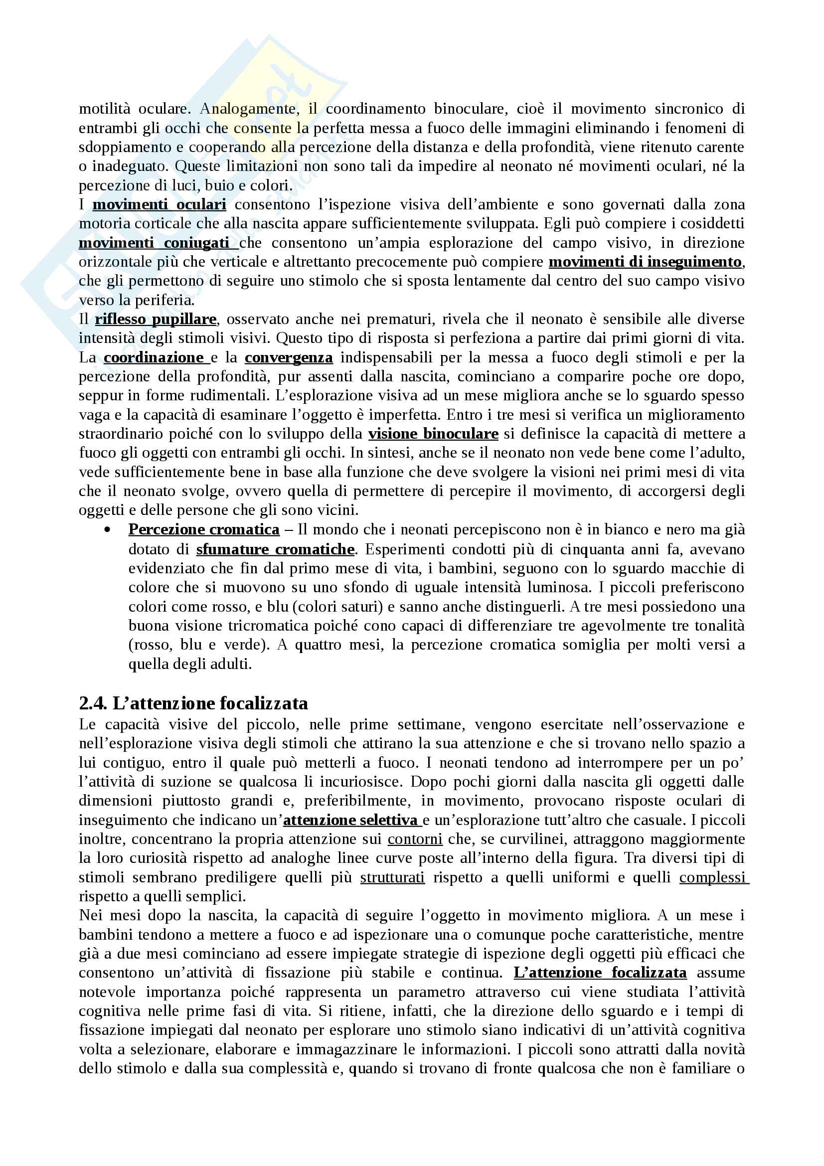 """Riassunto esame Psicologia dello sviluppo, docente Rosa Angela Fabio, libro consigliato """"Manuale Psicologia dello Sviluppo"""", Camaioni, Di Blasio Pag. 16"""