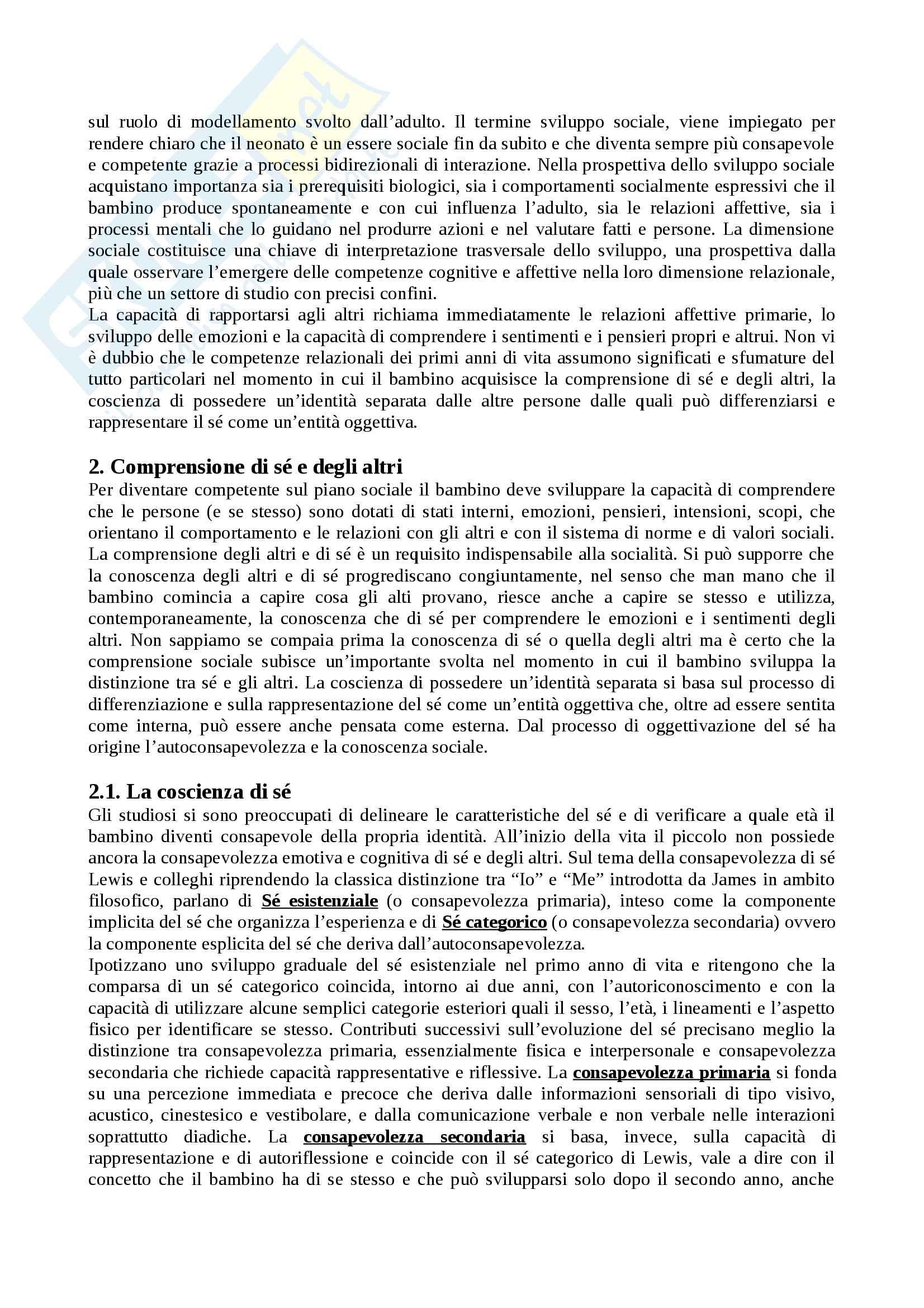 """Riassunto esame Psicologia dello sviluppo, docente Rosa Angela Fabio, libro consigliato """"Manuale Psicologia dello Sviluppo"""", Camaioni, Di Blasio Pag. 41"""