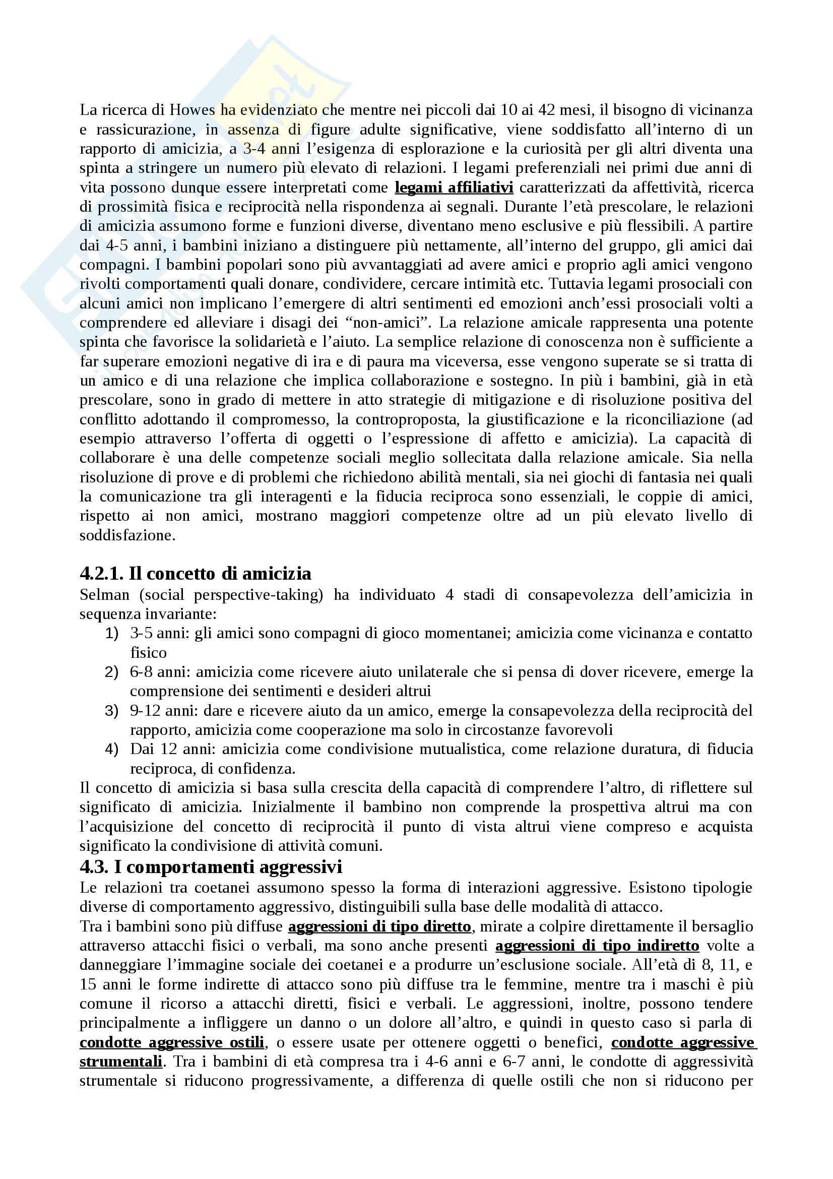 """Riassunto esame Psicologia dello sviluppo, docente Rosa Angela Fabio, libro consigliato """"Manuale Psicologia dello Sviluppo"""", Camaioni, Di Blasio Pag. 51"""