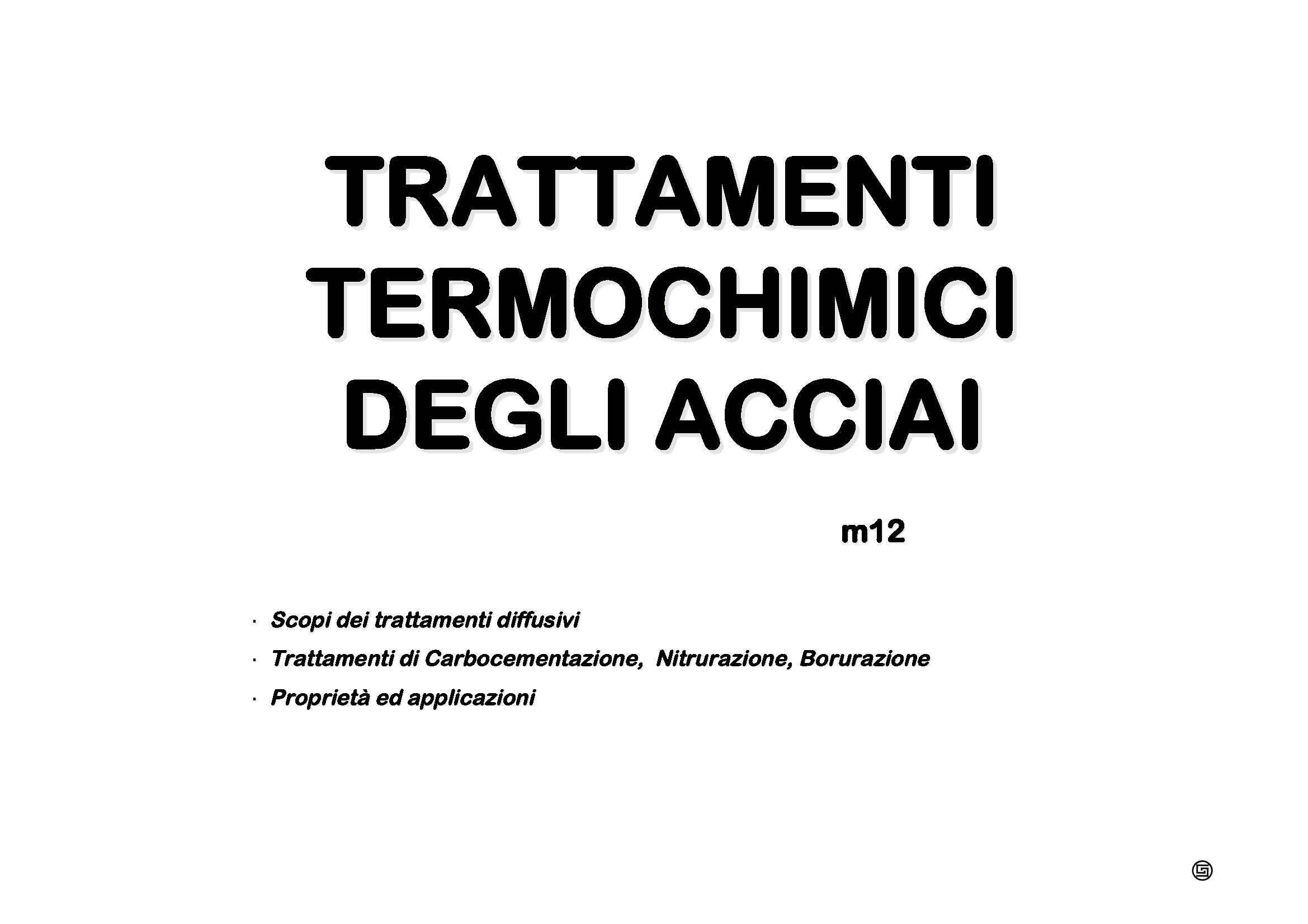 Acciai - Trattamenti termochimici